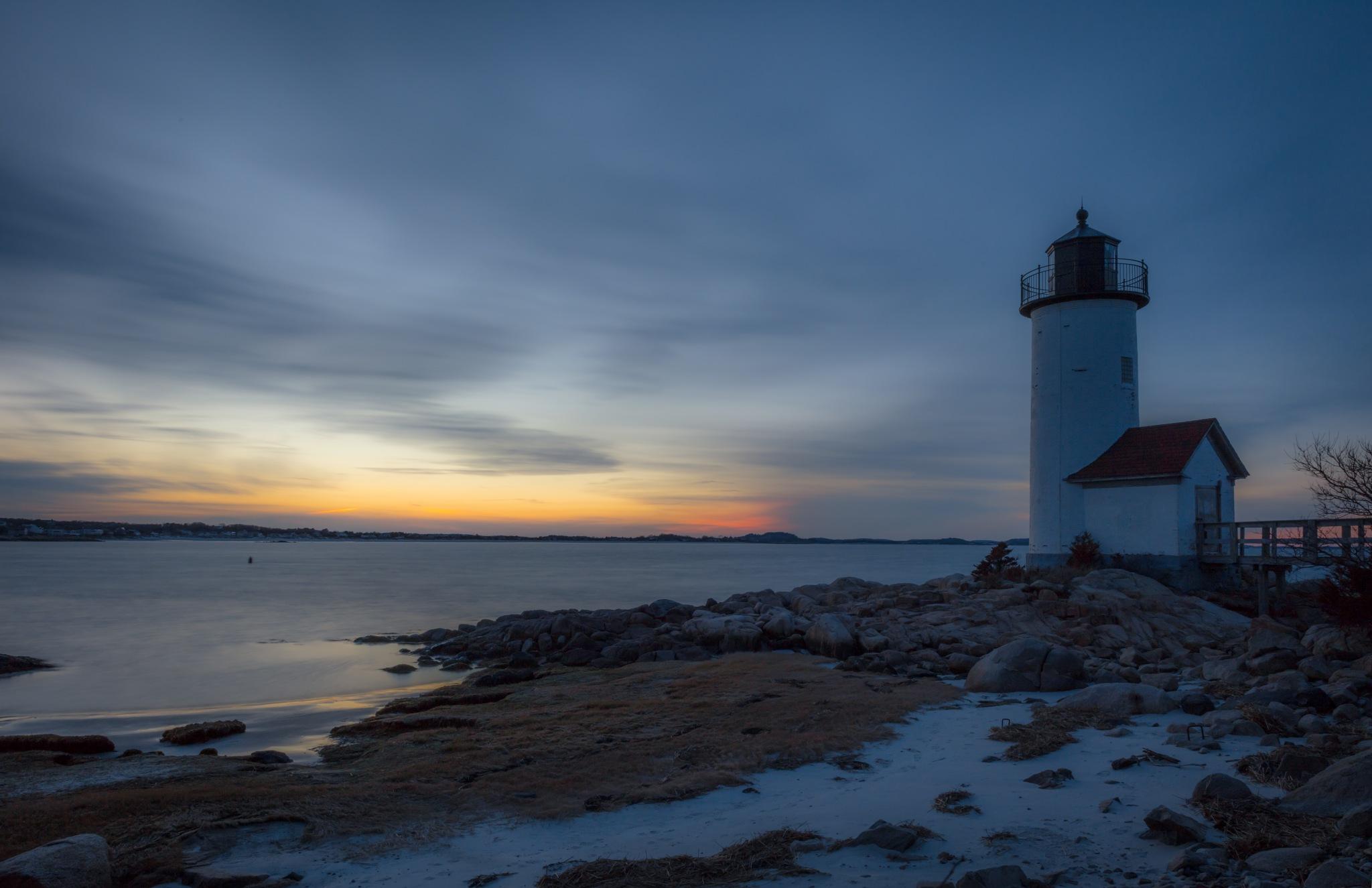 Photo in Landscape #sunset #lighthouse #sky #sea #sand