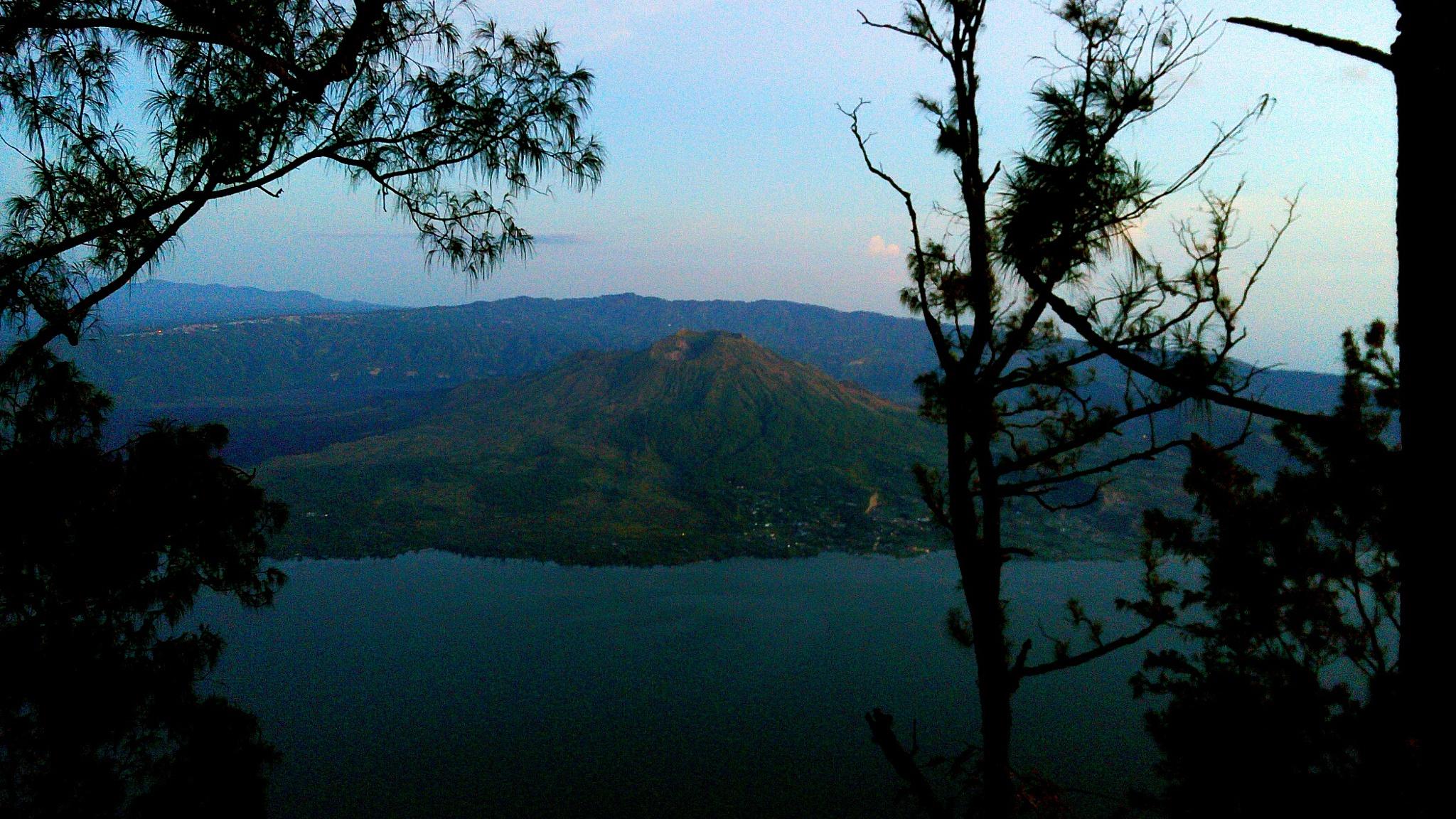 face of Batur Mountain by Rwynd