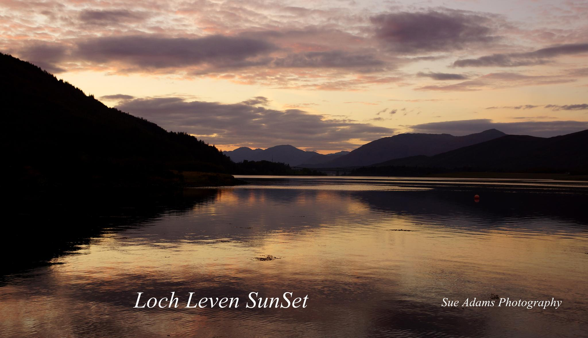 Loch Leven SunSet different day by Sue Adams Photography
