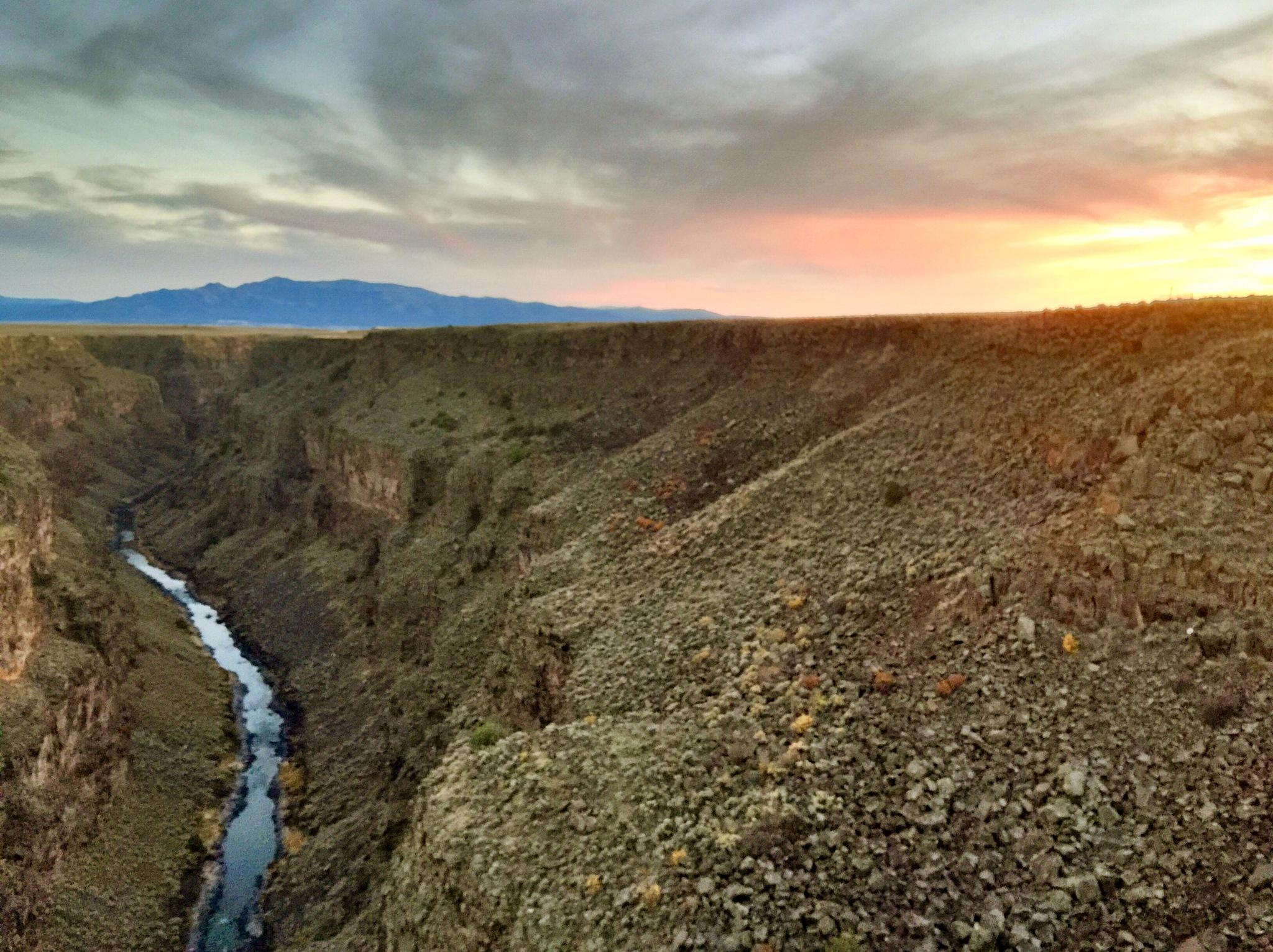 Rio Grande gorge bridge sunset by emsphotonut41