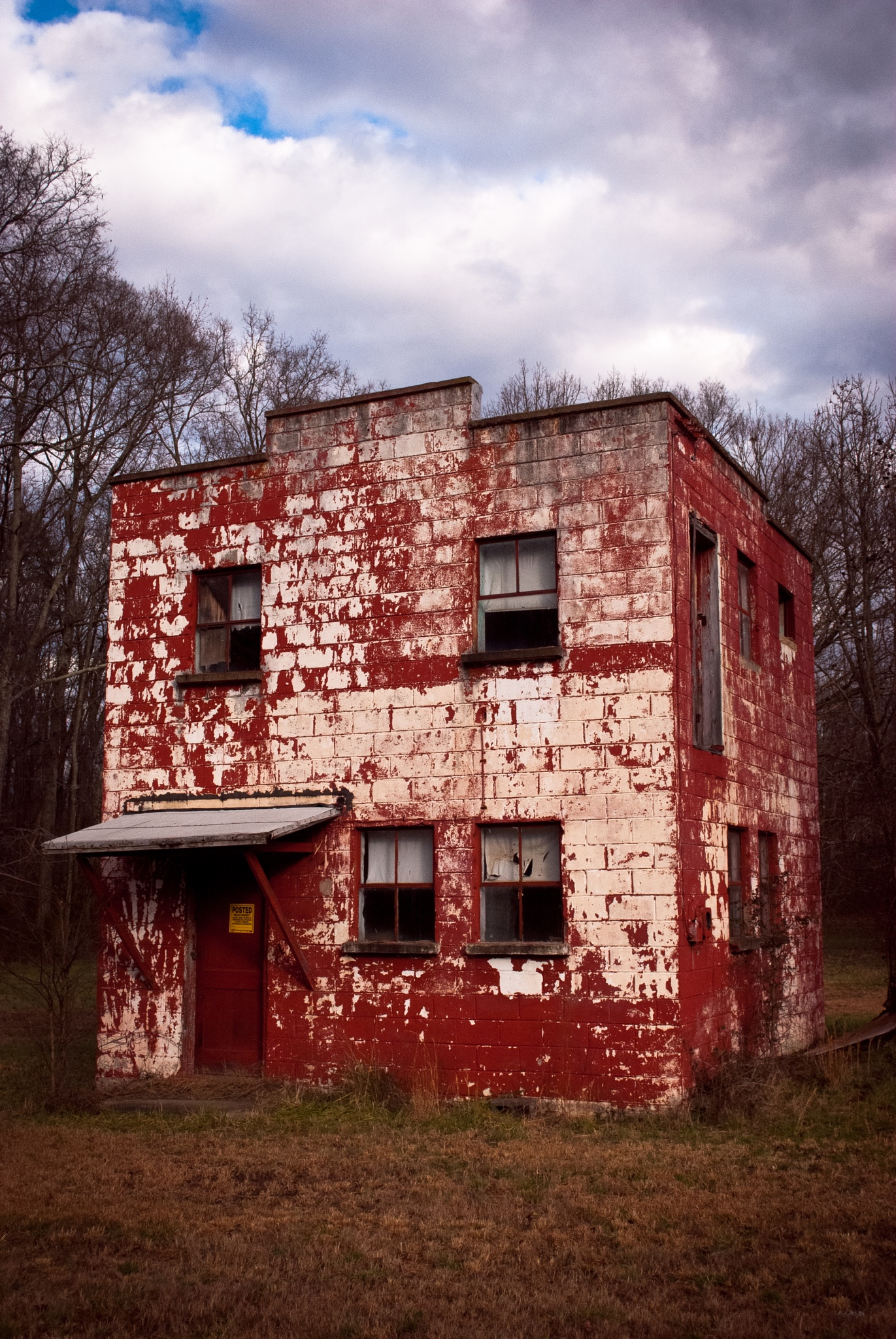 Route #1 Series-Red Block Building by Michael  C. Habina