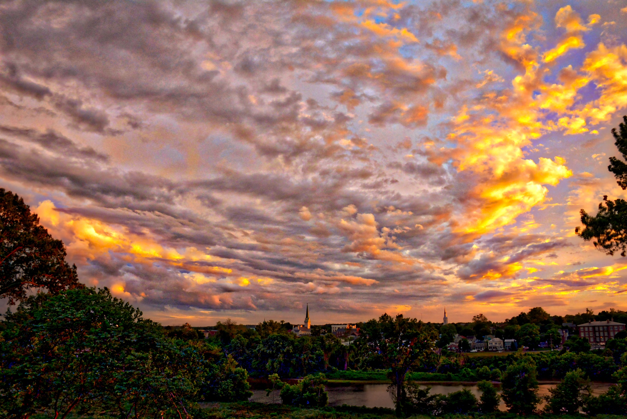 Sunset after Storm-Fredericksburg, Virginia by Michael  C. Habina