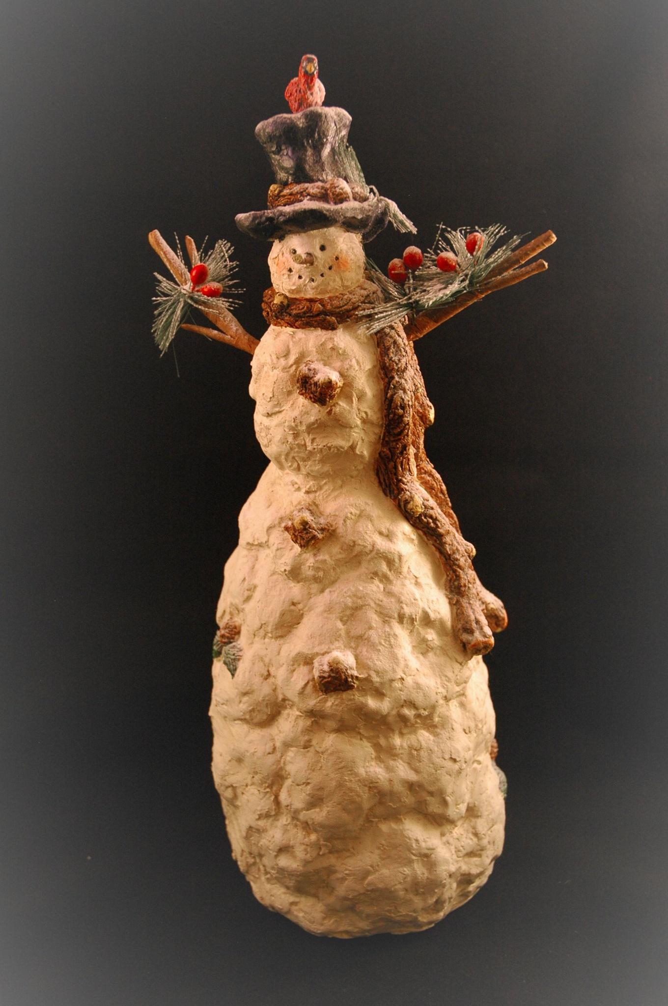 Snowman by Randy J Smith Photography