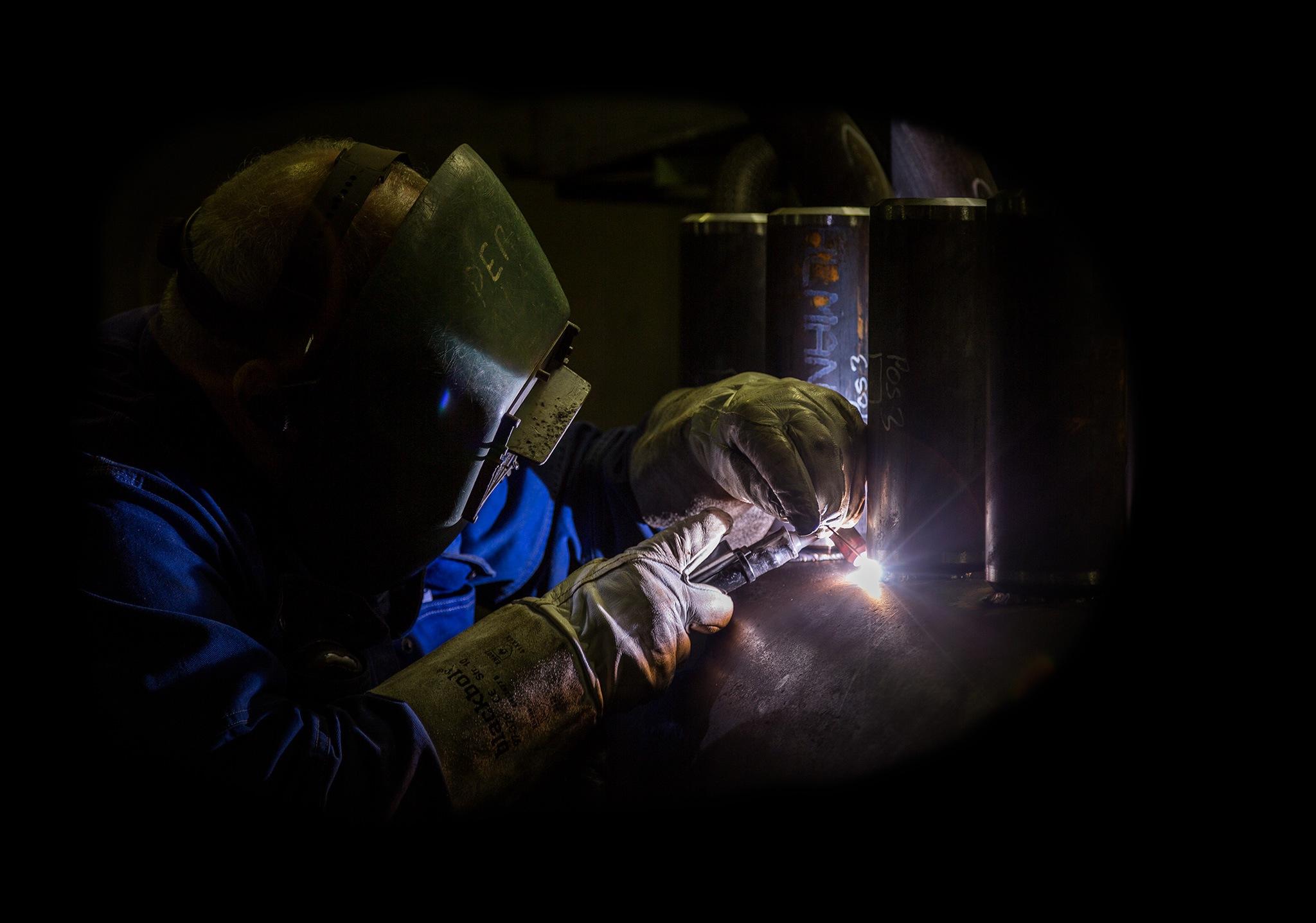 The welder by Claus Lyst Hansen