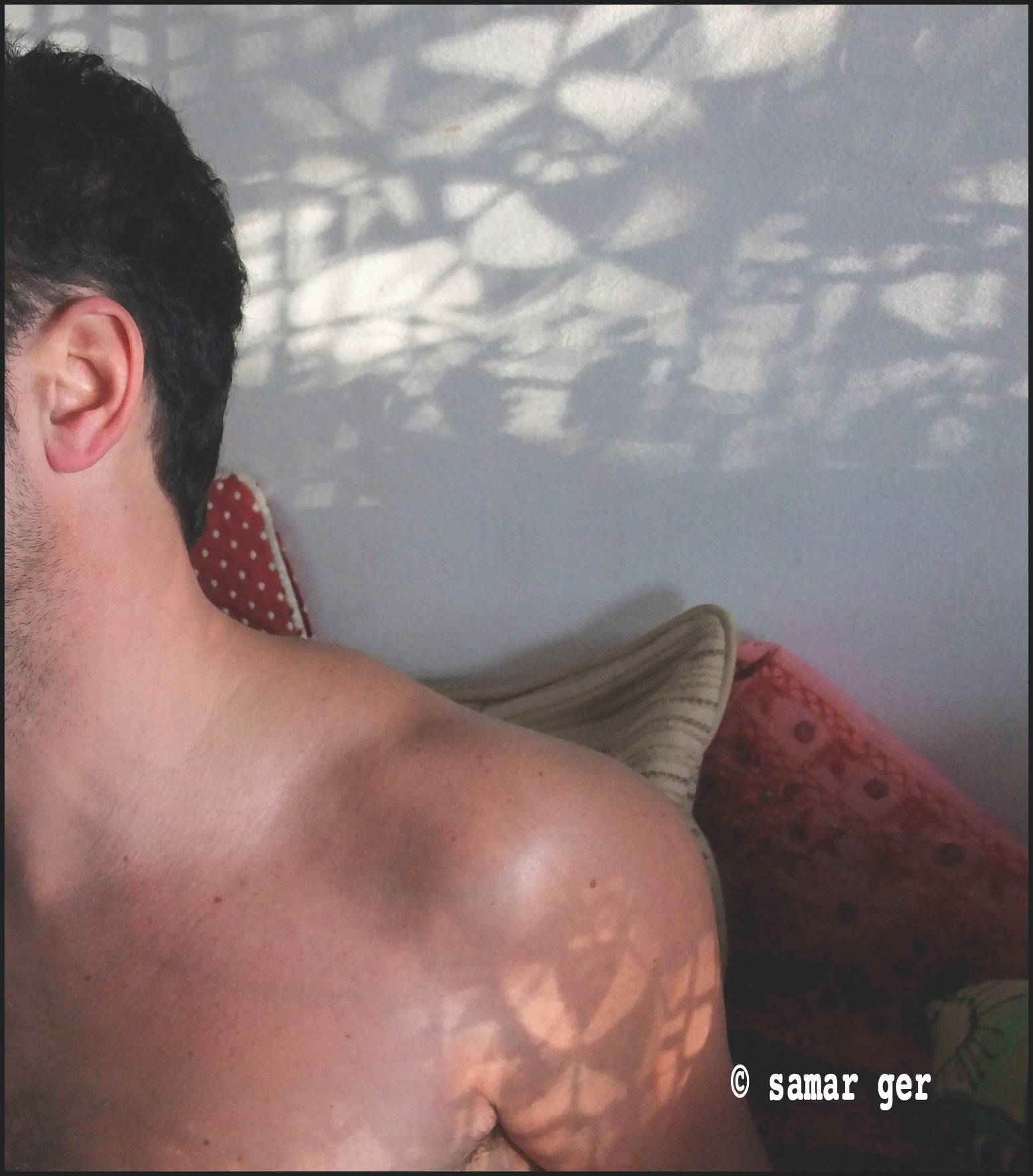 Man & shadows by Giselle El Raheb