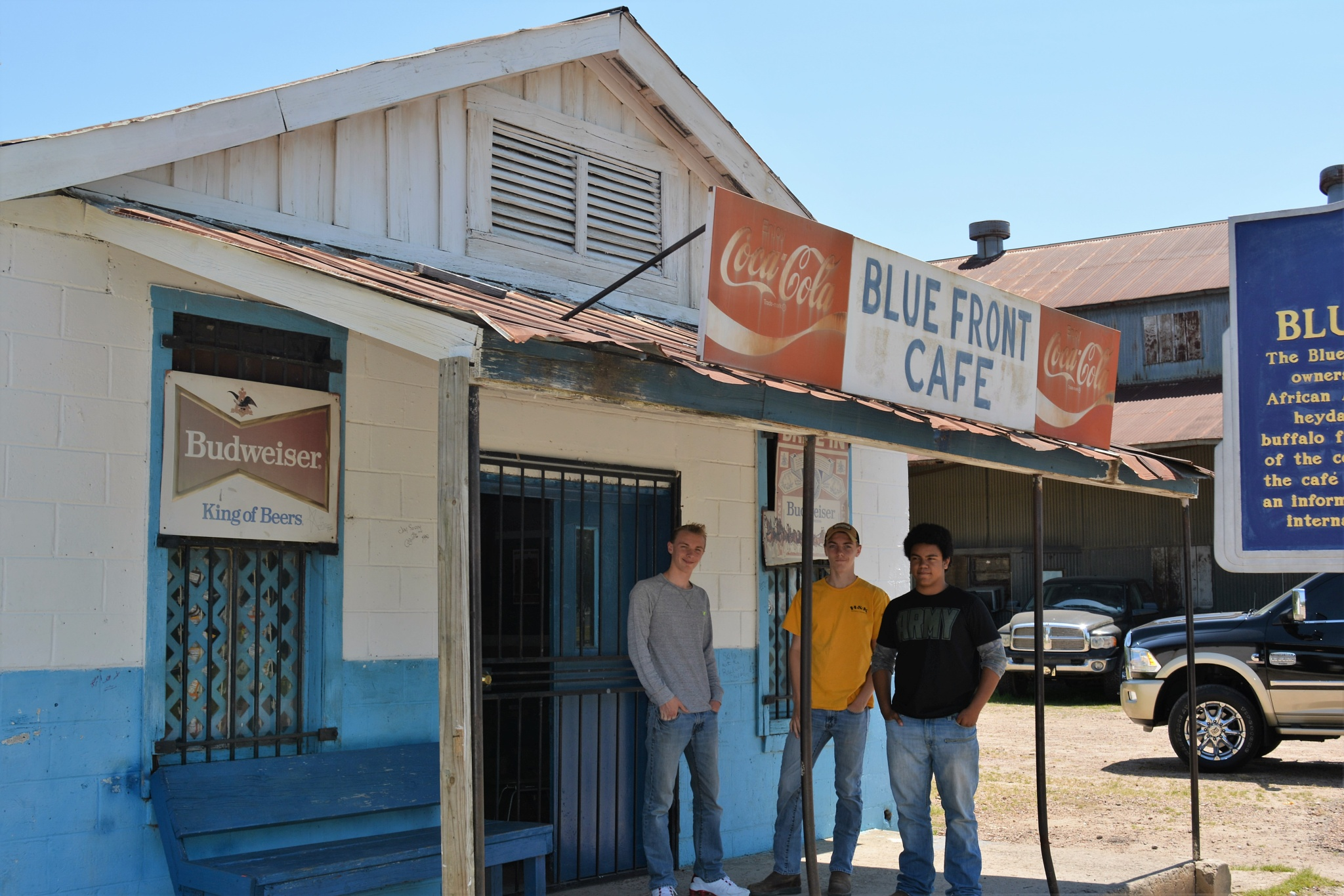 Hanging at the Blue Front by Gena Koelker