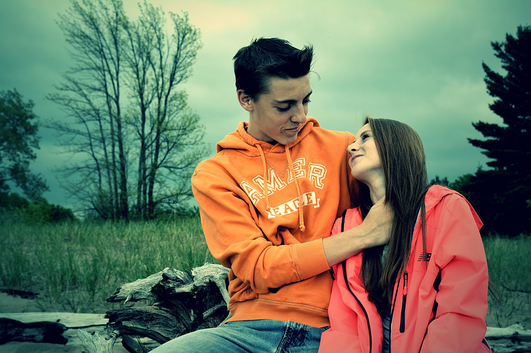 Photo in People #people #grass #driftwood #love #couple