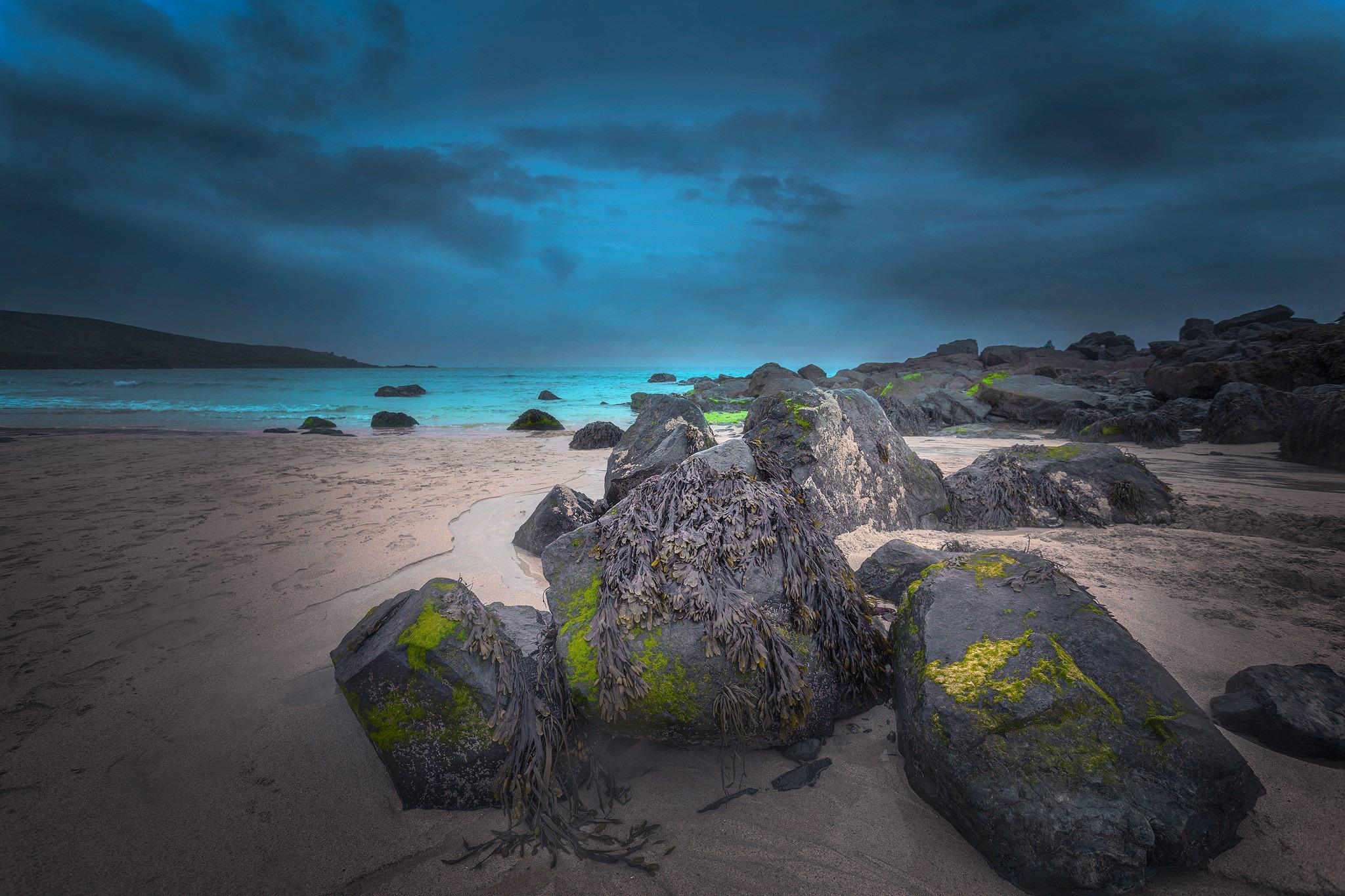 Dusk on Porthmeor beach St Ives  by Gray Smith
