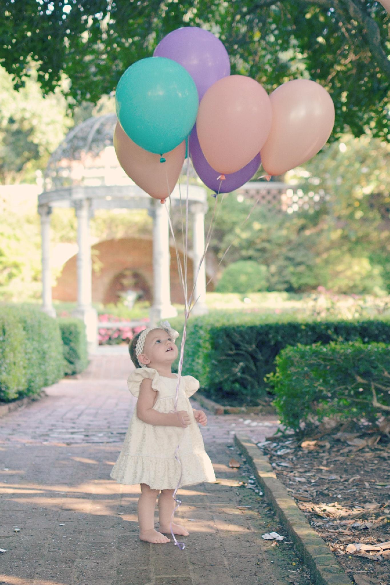 Photo in Family #birthday #first birthday #birthday girl #children #kids #balloons