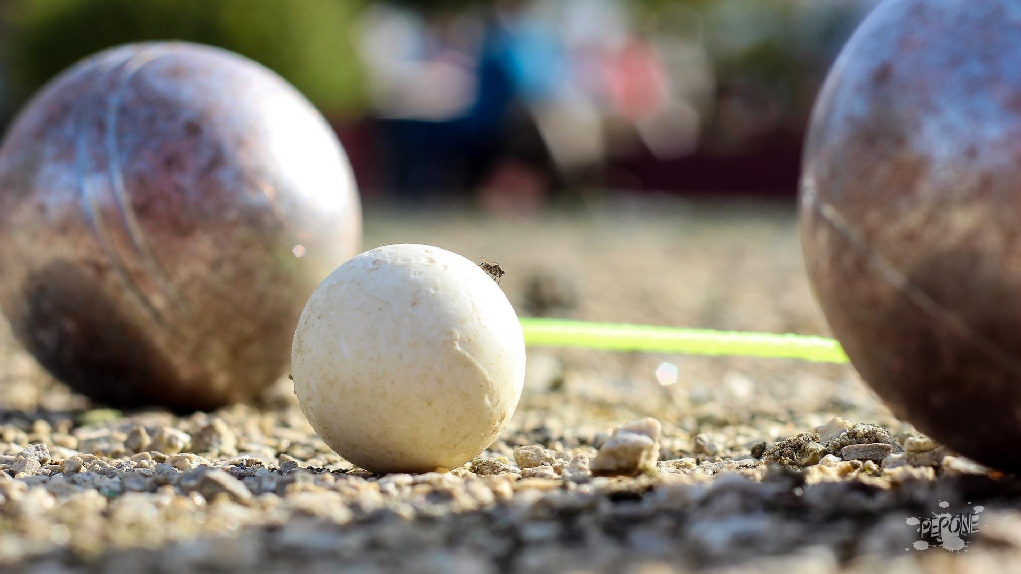 Pétanque j'ai les boulles ici sur le Cochonnet by Pepone1307