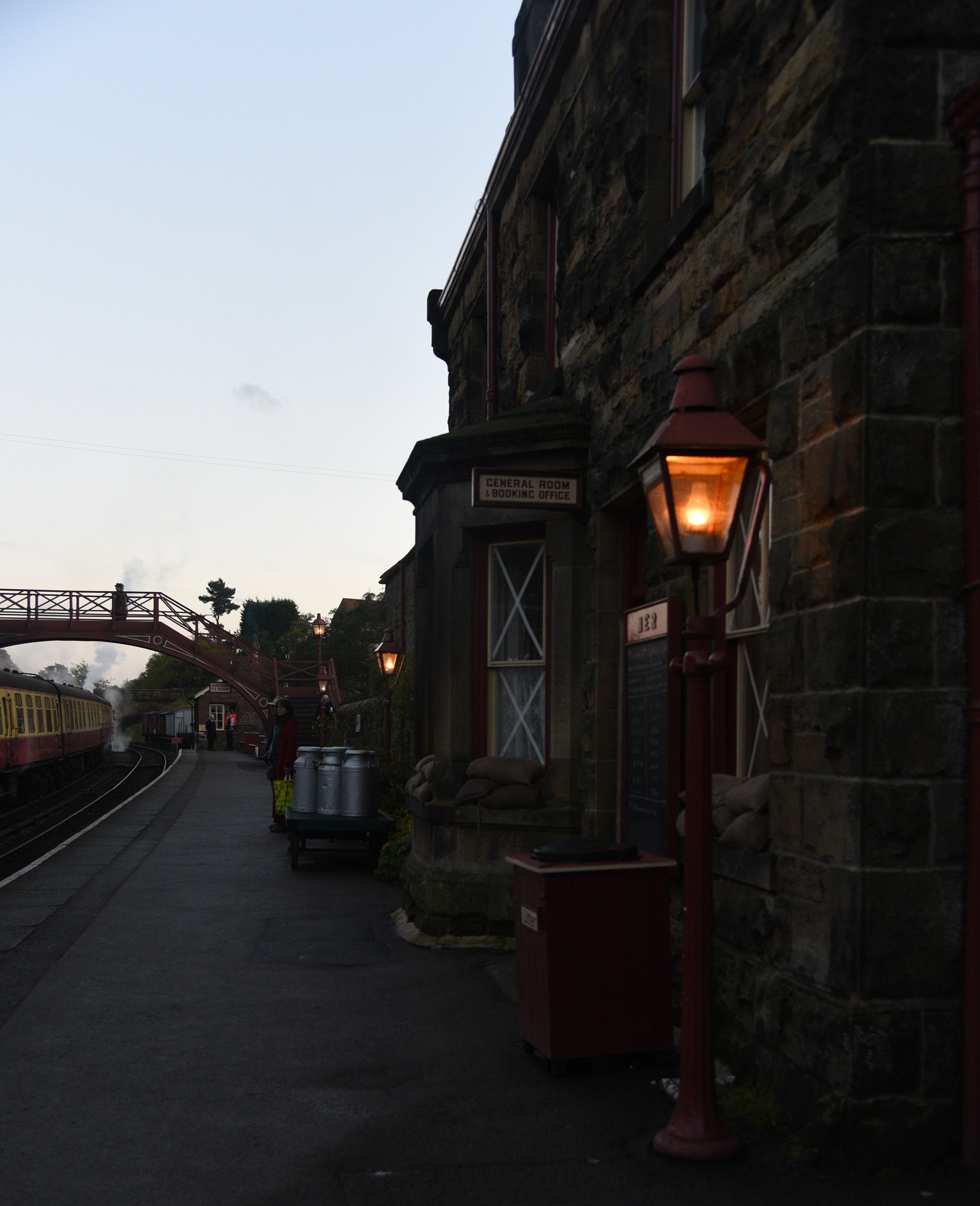 Goathland Station at dusk - aka 'Aidensfield'  from 'Heartbeat'  by coolcats