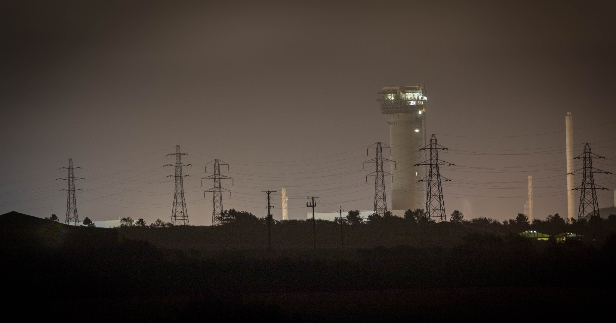 Sellafield at Night by Chris Wood