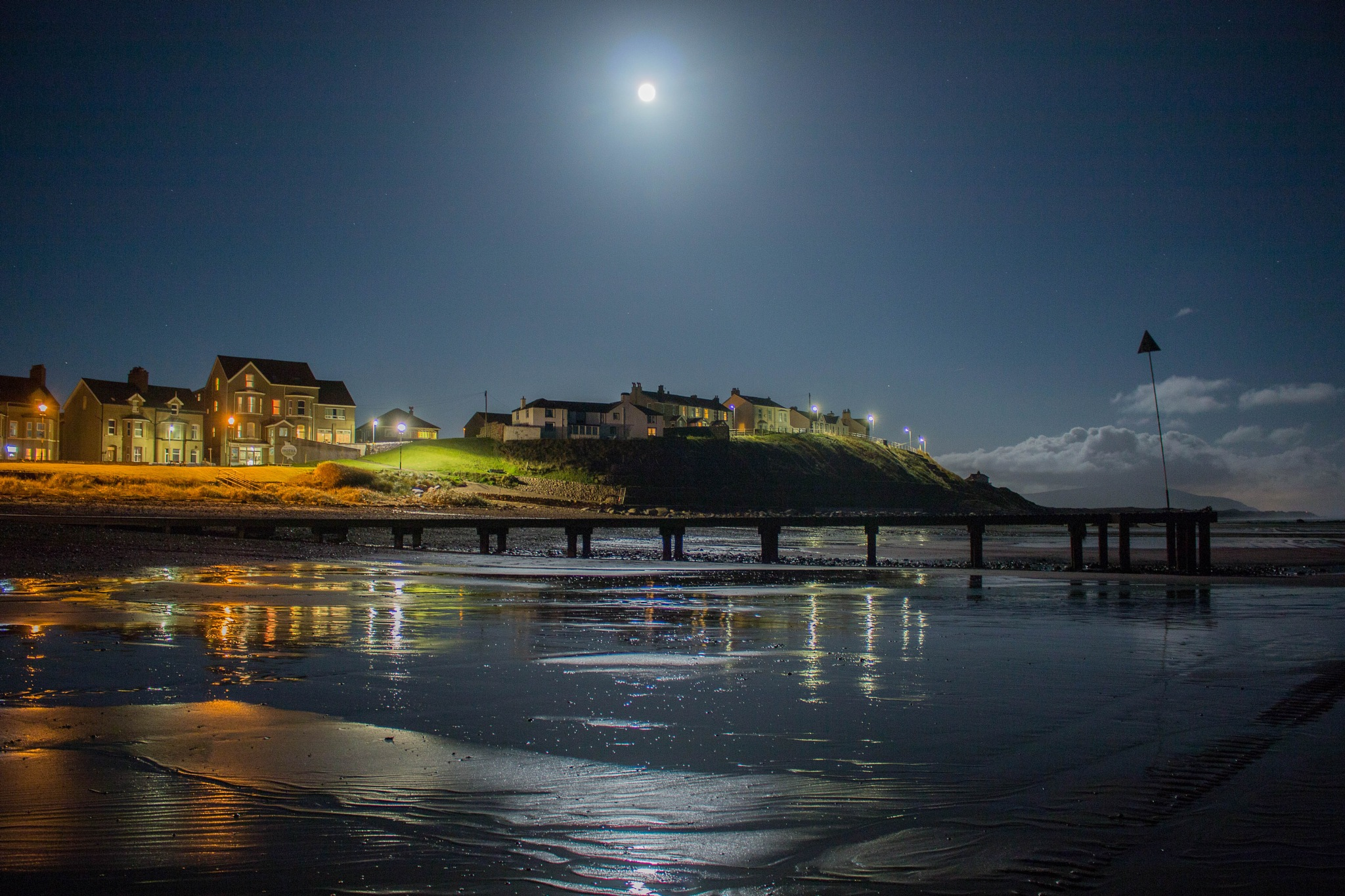 Full Moon over Seascale by Chris Wood