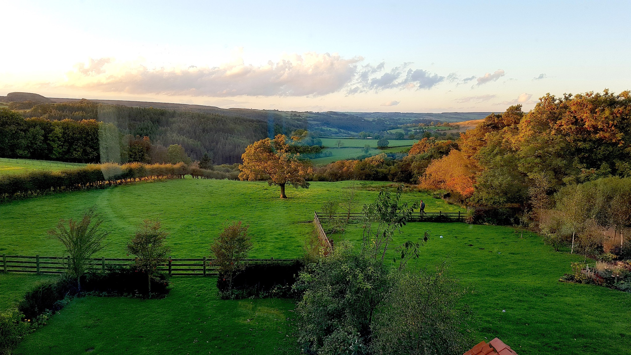 This is the view from out Hotel window in Yorkshire. by John Cater