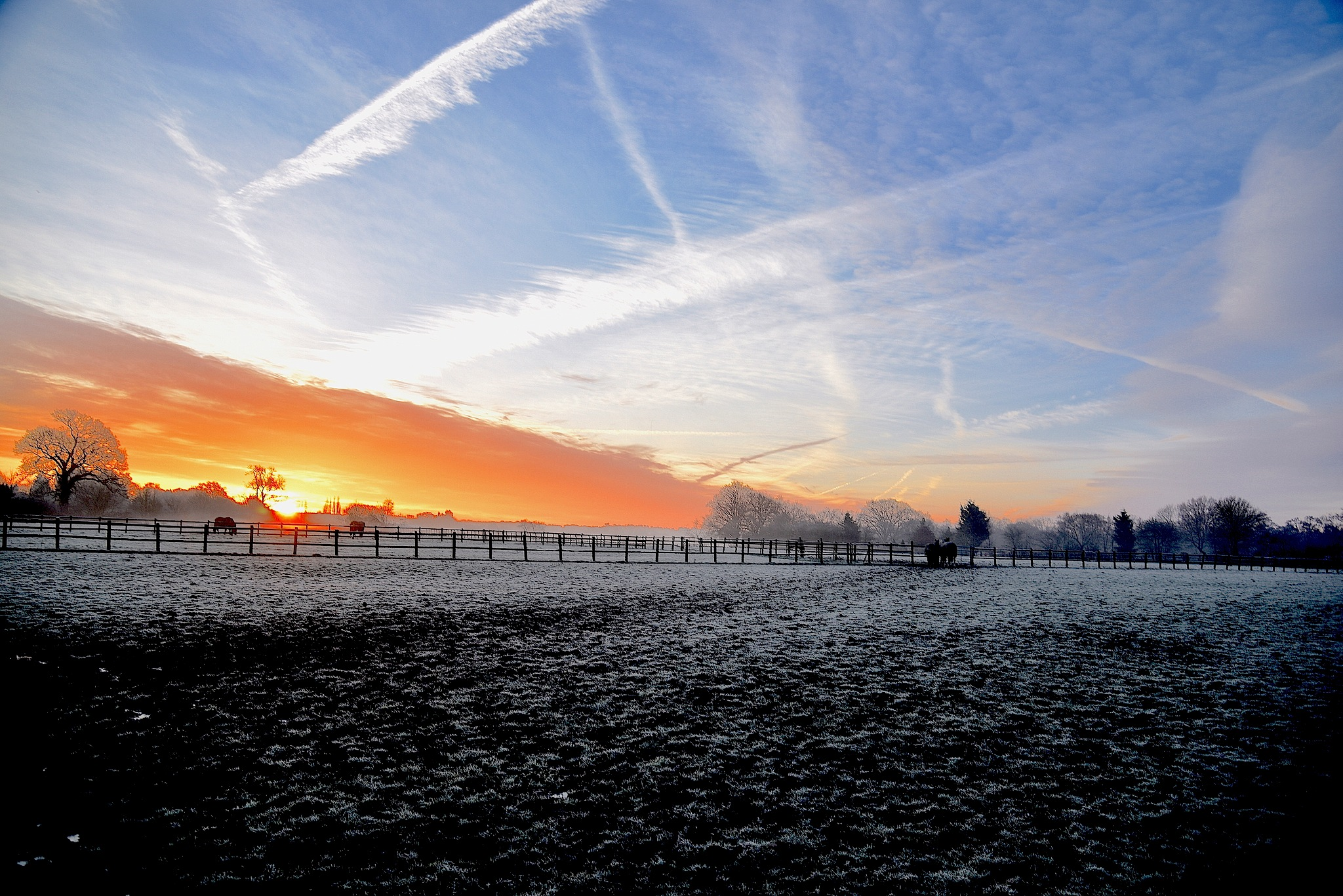 Berkshire Sunrise. View in Wide Screen. by John Cater