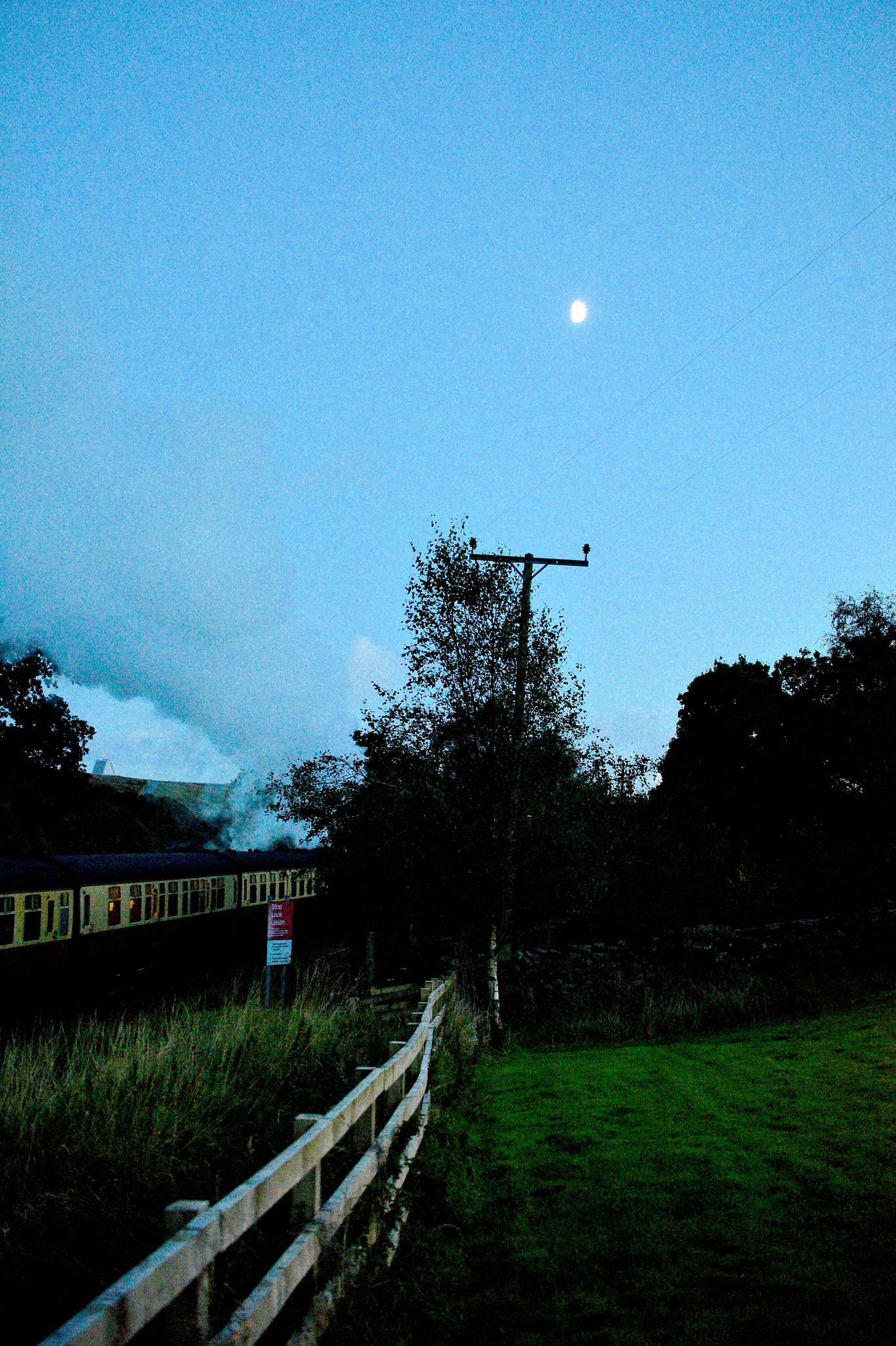 Last Steam Train of the Day. Yorkshire. by John Cater