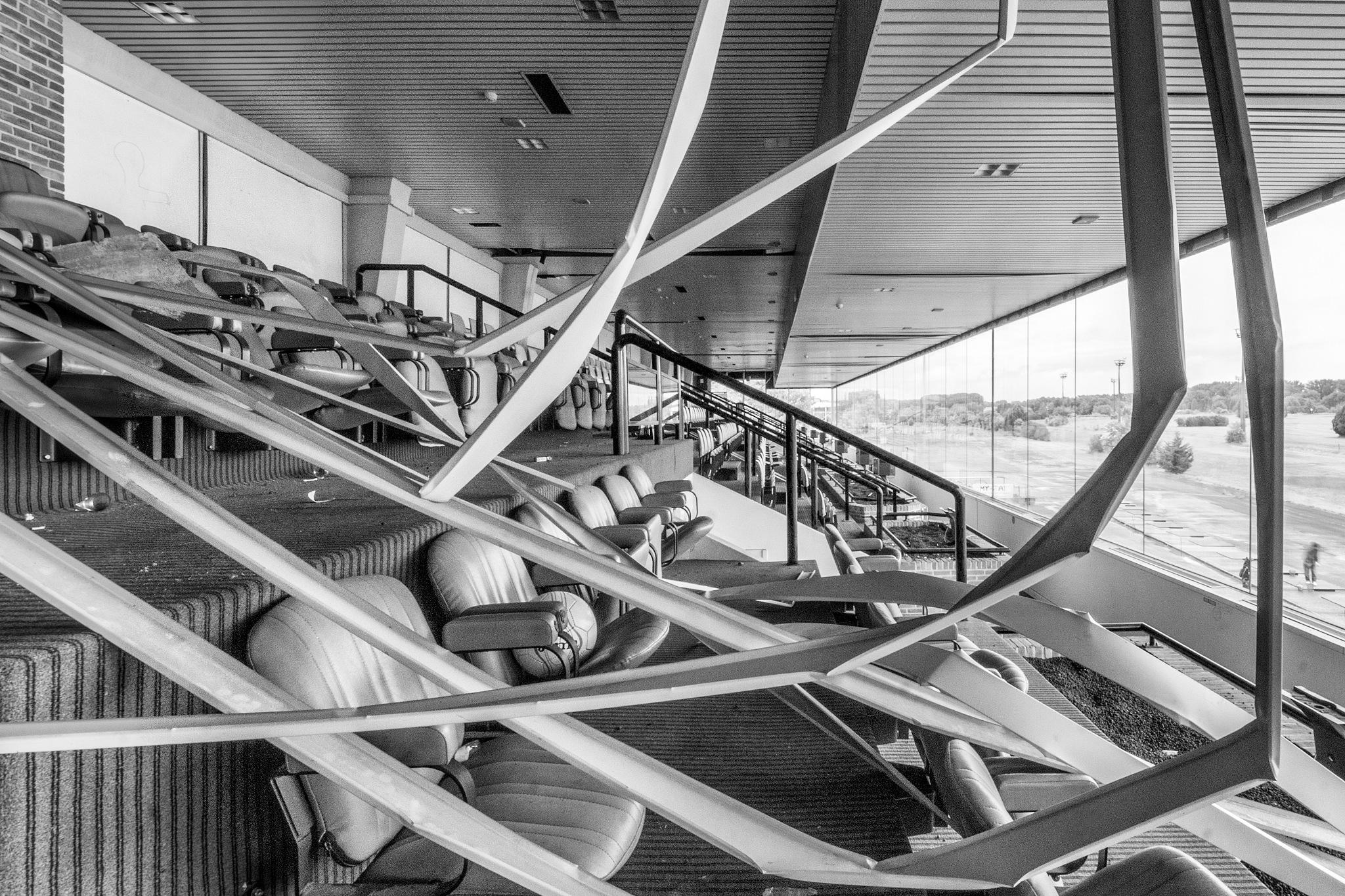 Photo in Interior #abandoned #urbex #urban #exploring #exploration #decay #tribune