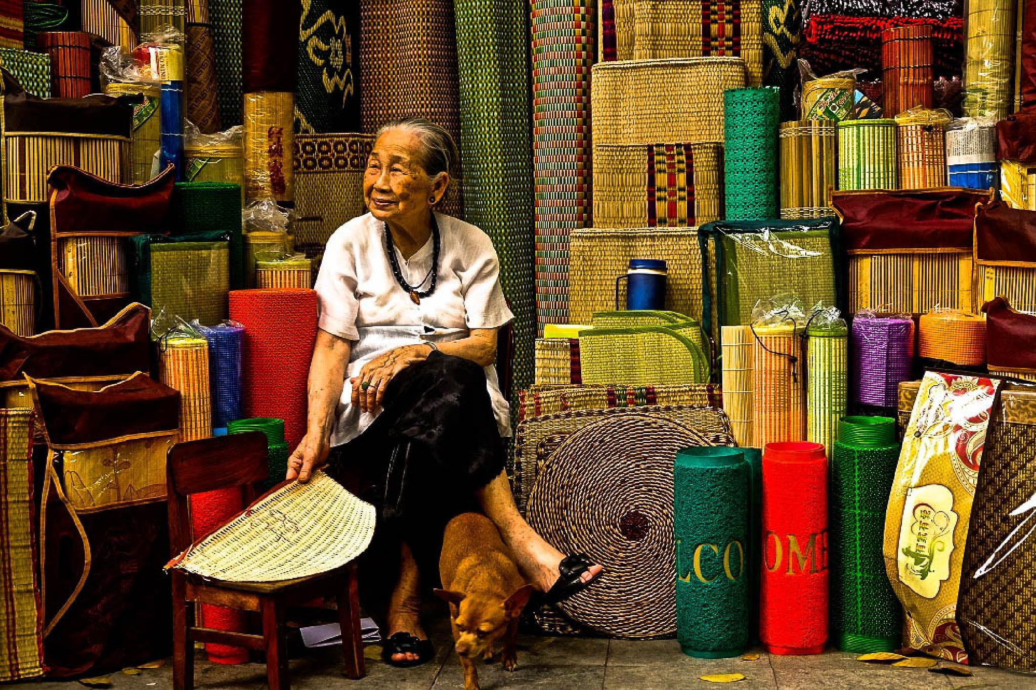 Hanoi Lady, Hanoi, Vietnam by JohnMilligan