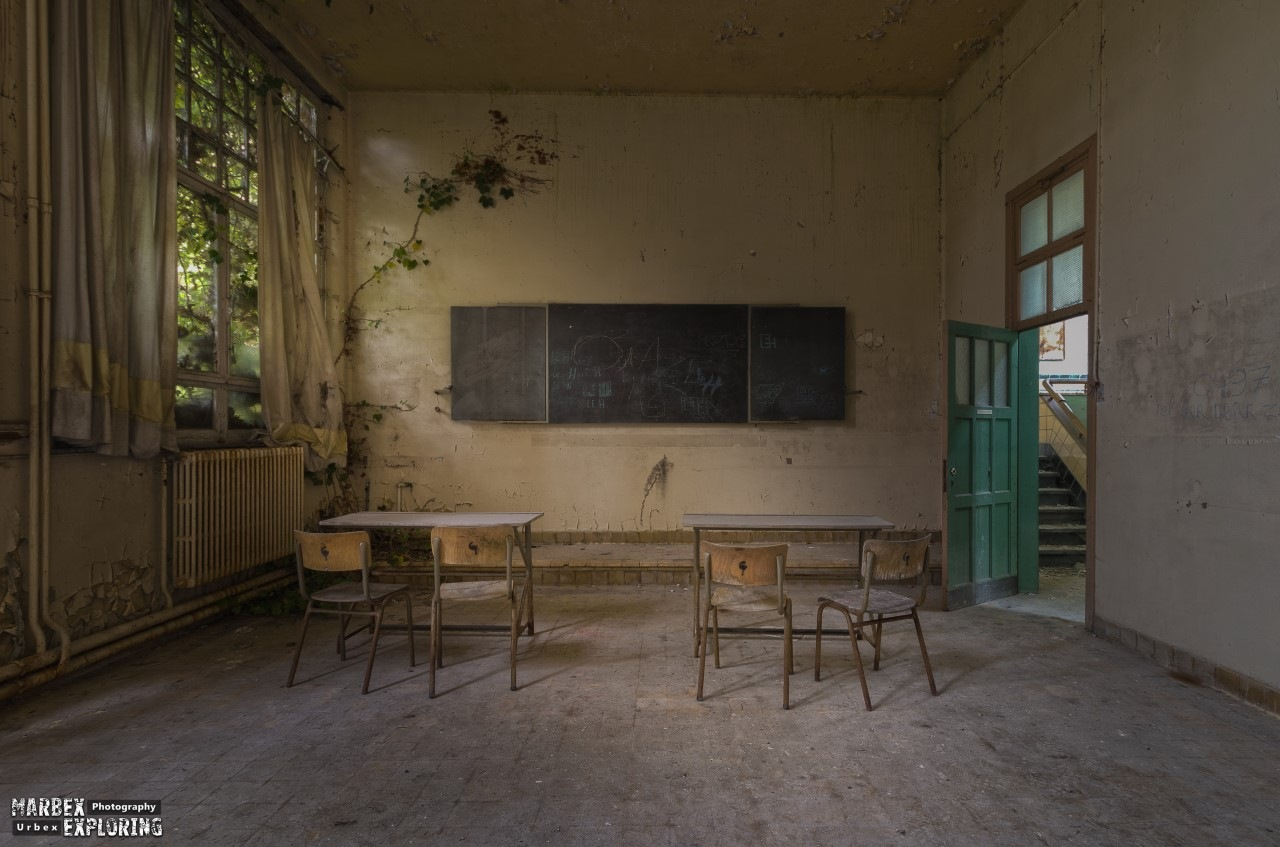 (revisit) When everybody left the classroom... is nature finding a way to take over by  Marjan Polley Photography