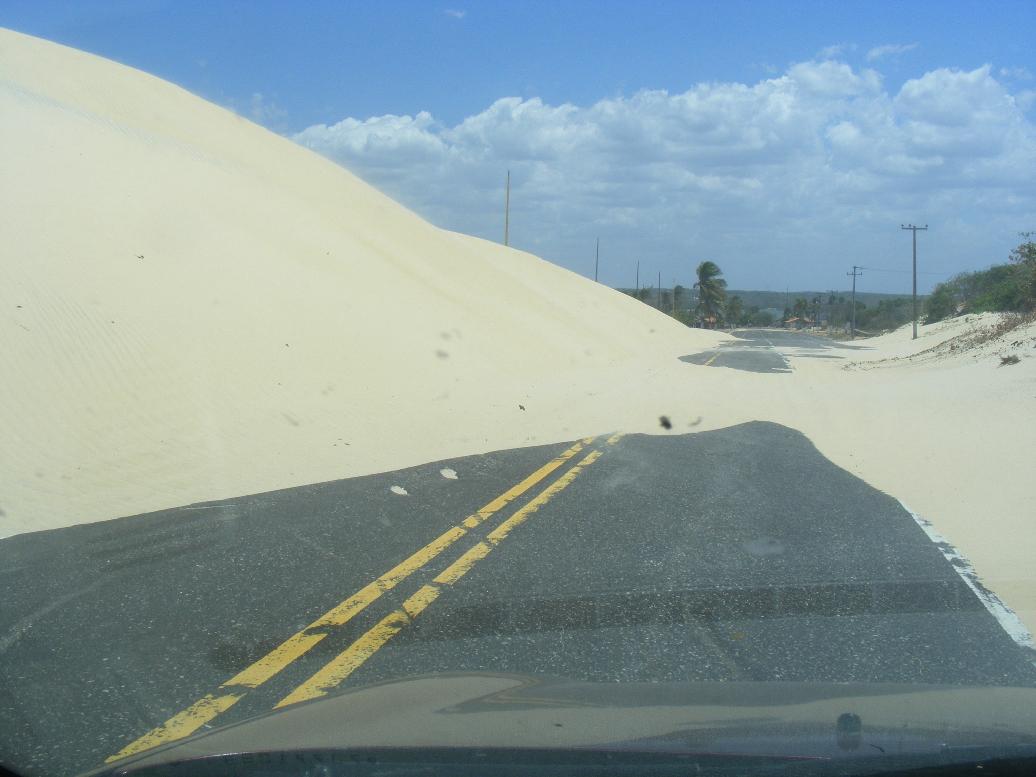 Big dunes closed the road by linacb01