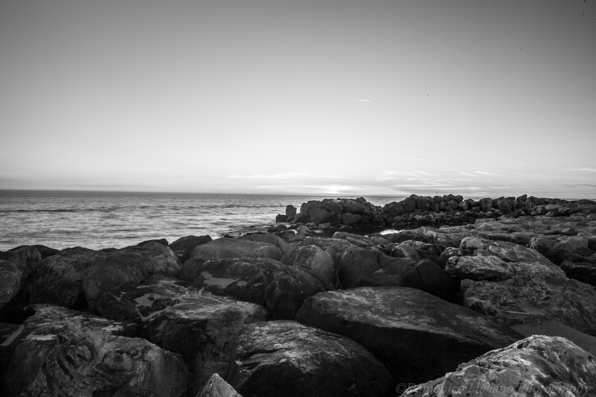 Sunset in b/w by Domenico Luciano Photography