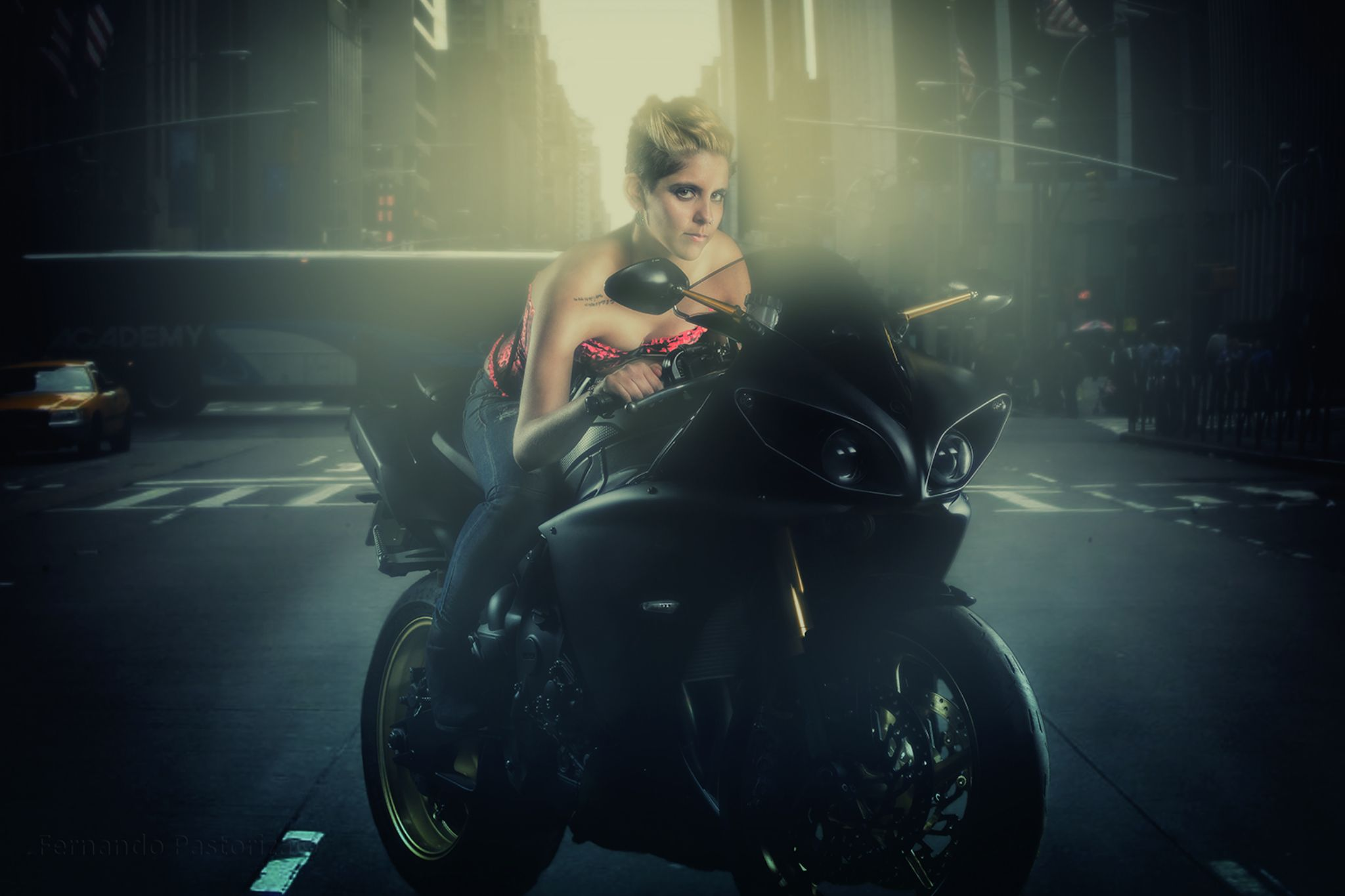 Sofia and Yamaha R1 by pastoriza