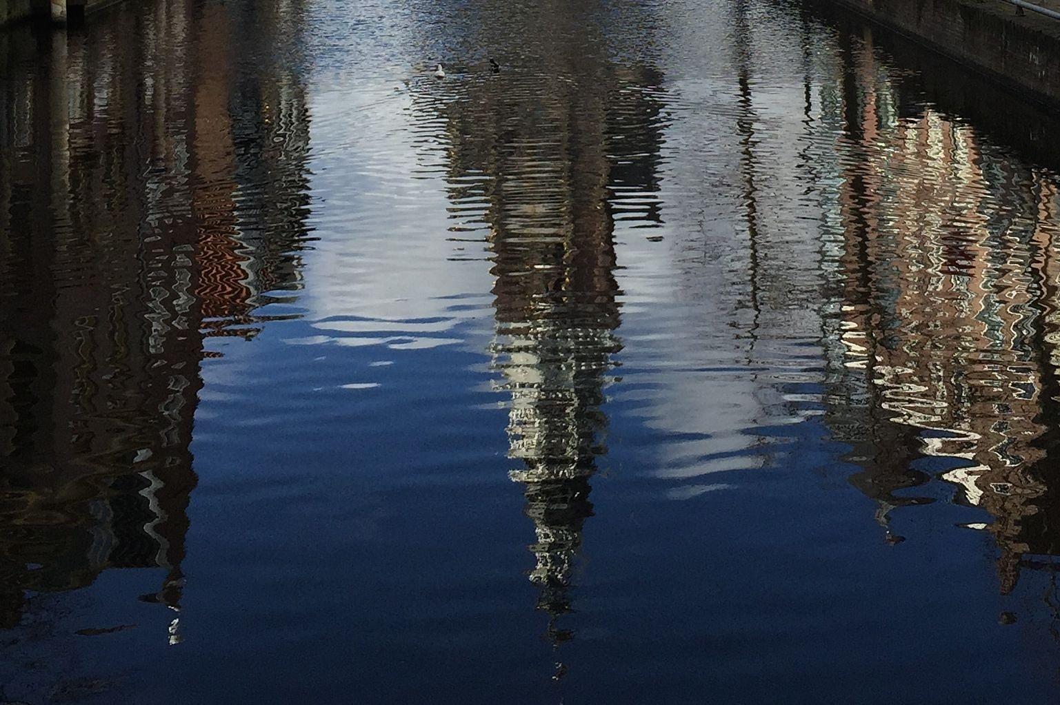 Photo in Street Photography #water #weerspiegeling #alkmaar #de waag