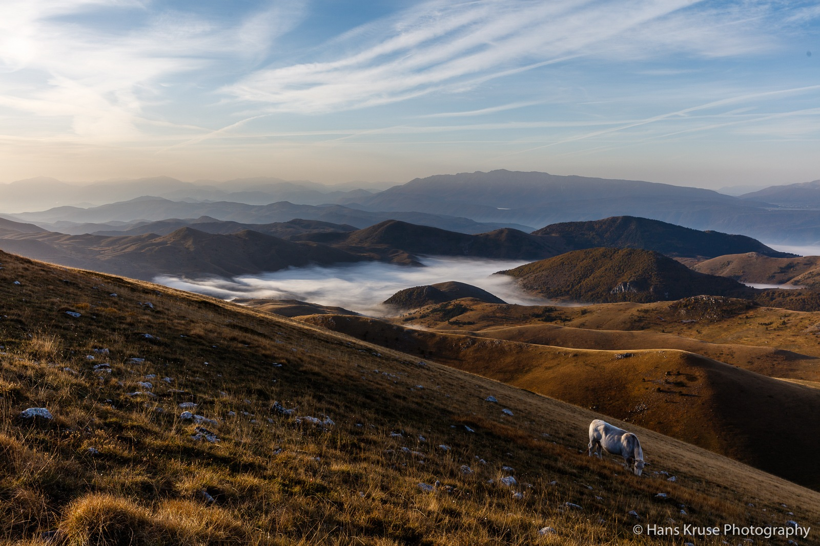 Morning light in Campo Imperatore by Hans Kruse