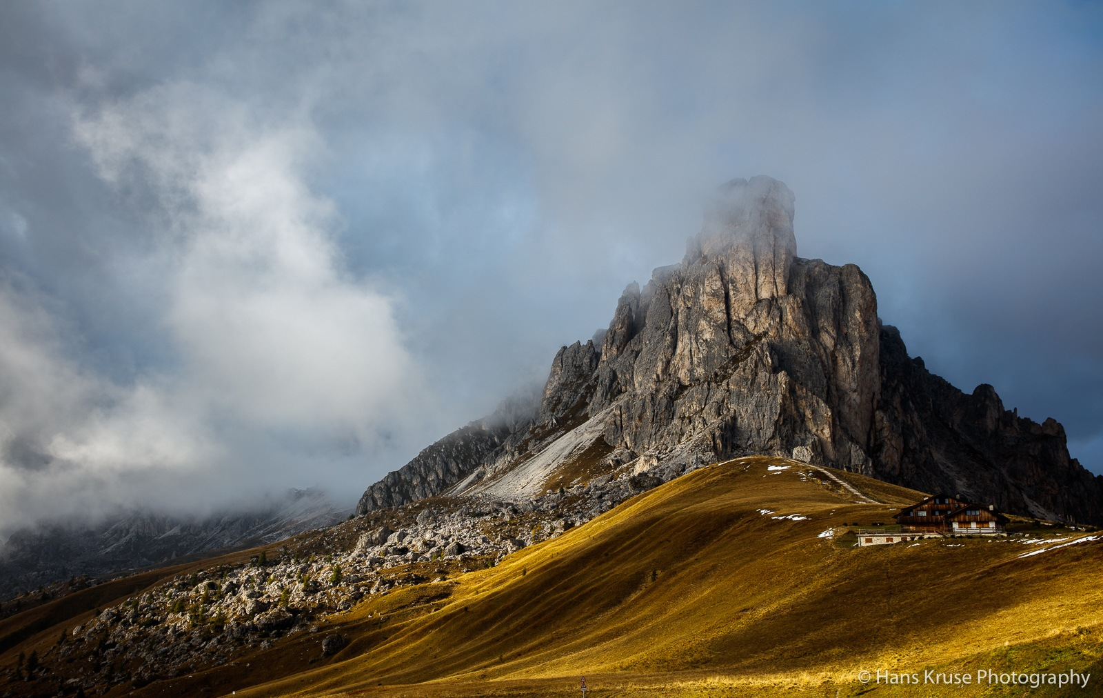 Late afternoon at Passo Giau by Hans Kruse