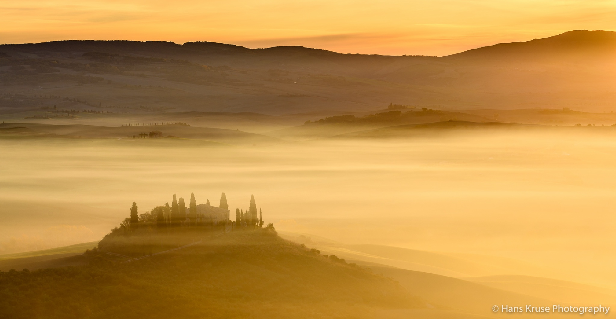 Belvedere in the fog by Hans Kruse
