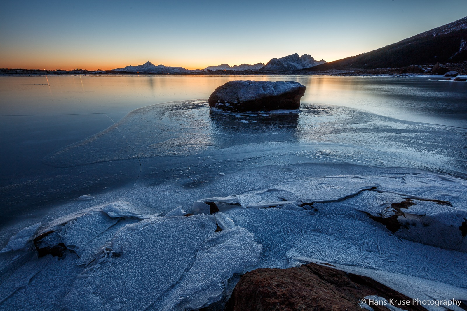 At the frozen lake by Hans Kruse