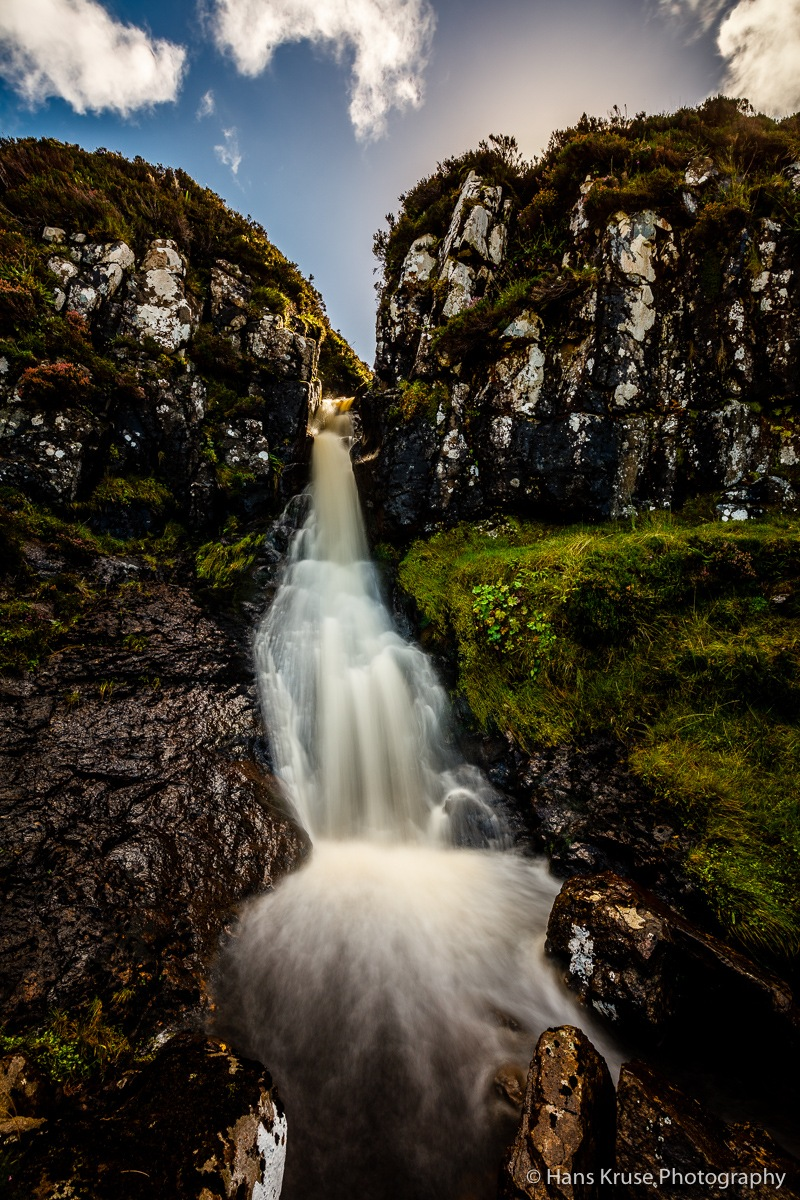 Waterfall in the Scottish highlands by Hans Kruse