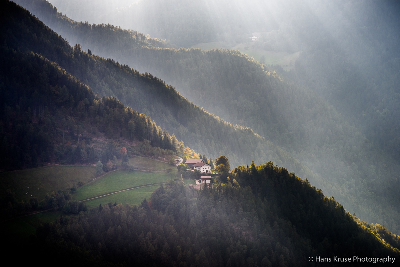 Living in the mountains by Hans Kruse