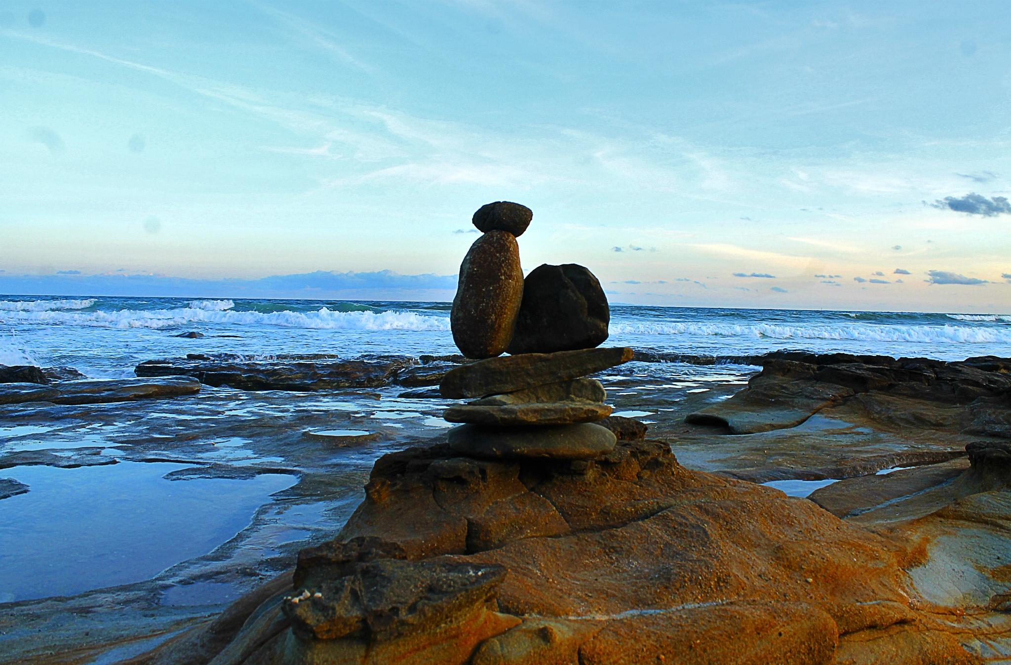 Rocks by the sea by Sarah Black