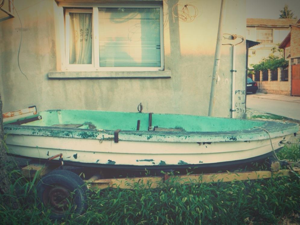 Boat on the land by Kyosev
