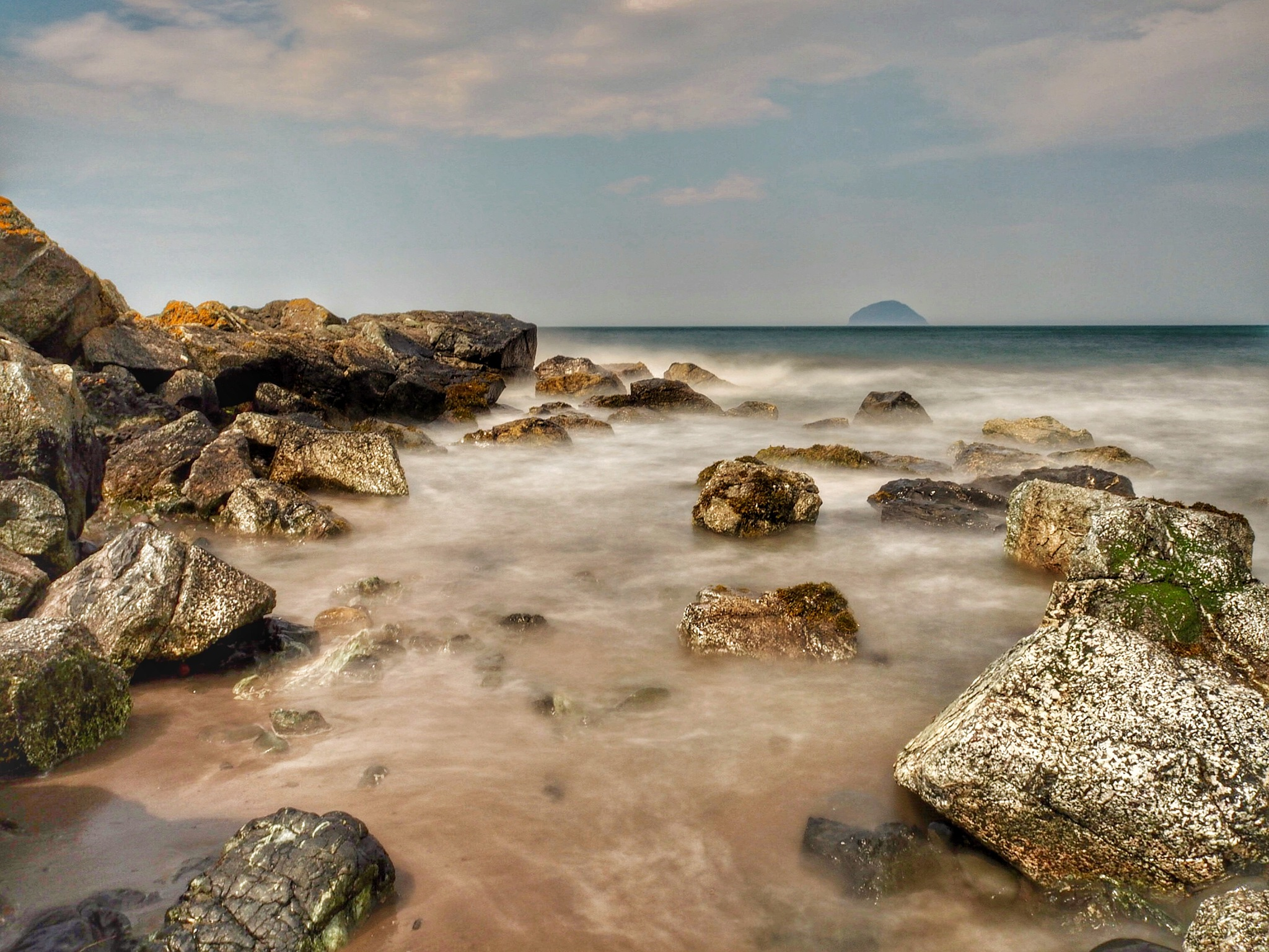 Ailsa Craig from Lendalfoot Ayrshire  by Stephen Miller