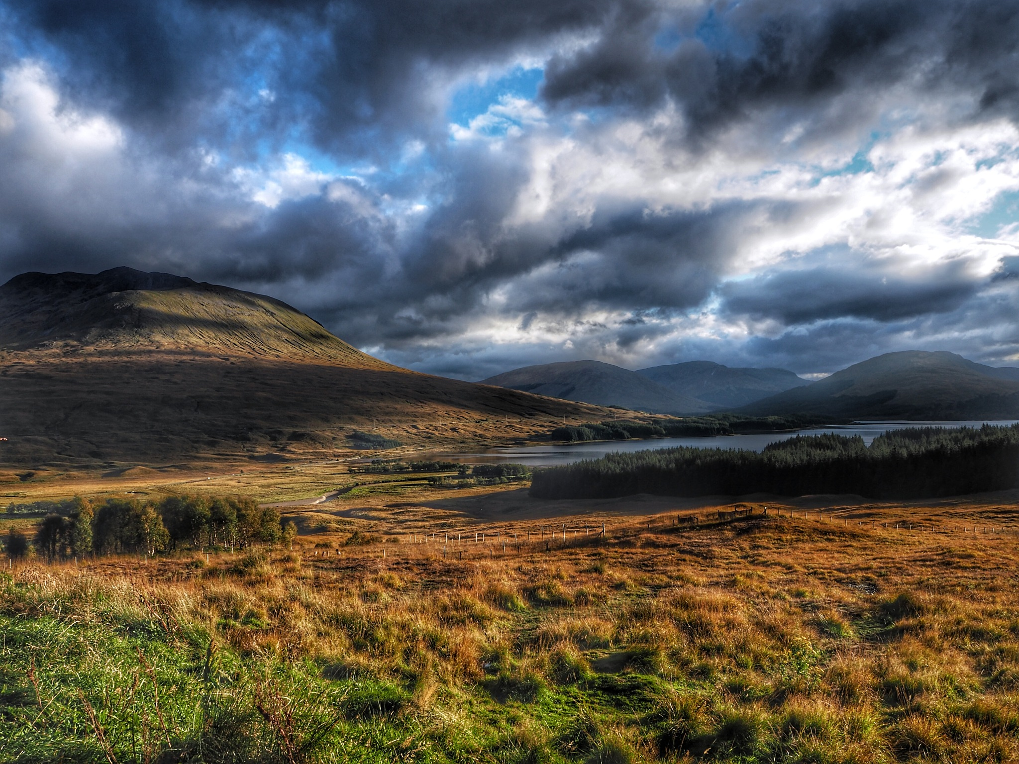 Light & shade Scottish highlands  by Stephen Miller