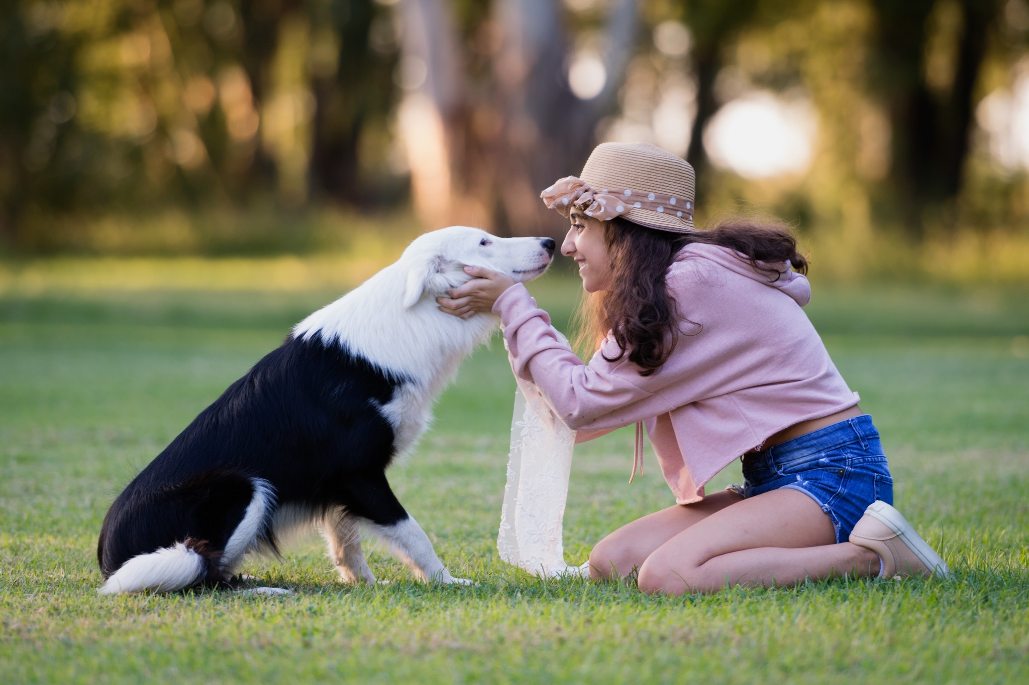 Lola and her dog by clarandaburu