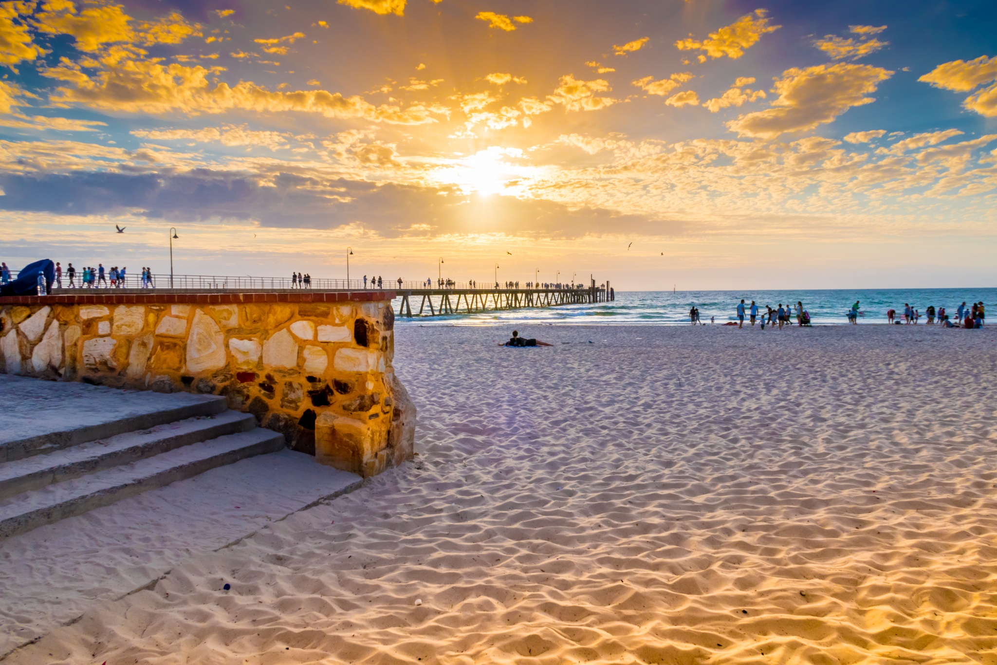 Glenelg Beach Sunset by JoeFranchina