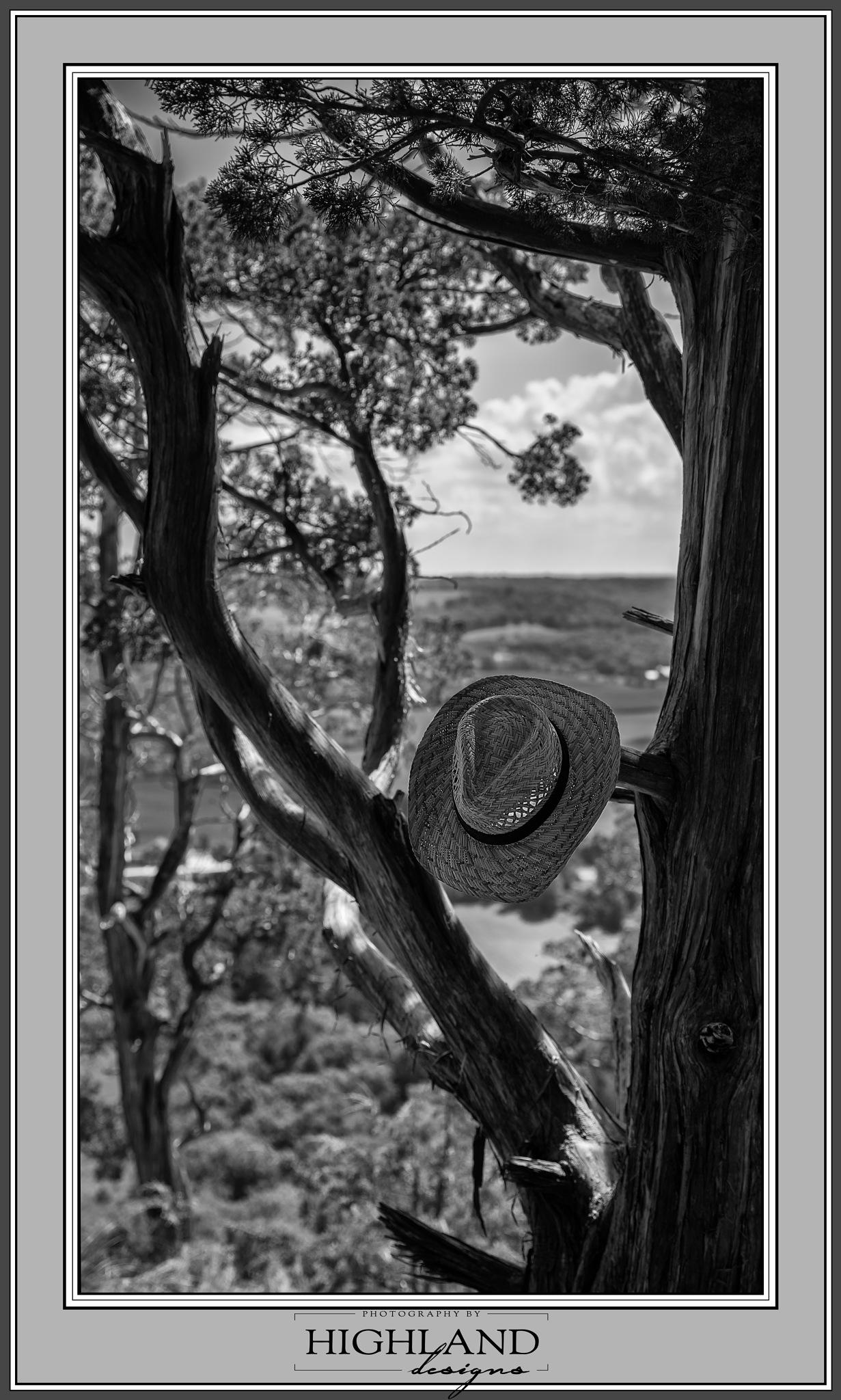 Cowboy Hat B&W by Photography By Highland Designs