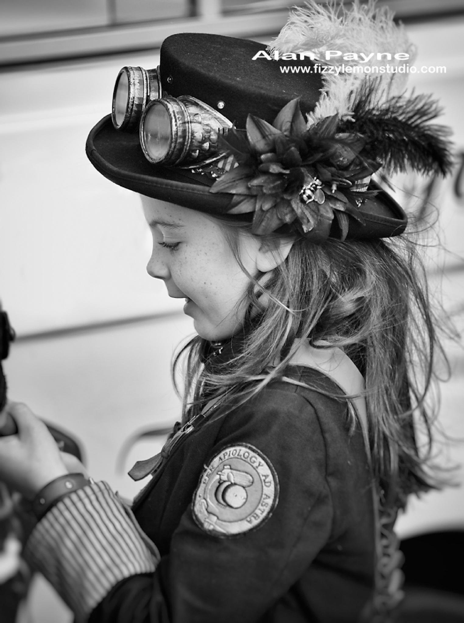 Steam punk girl by alanpayne_fizzylemonstudio