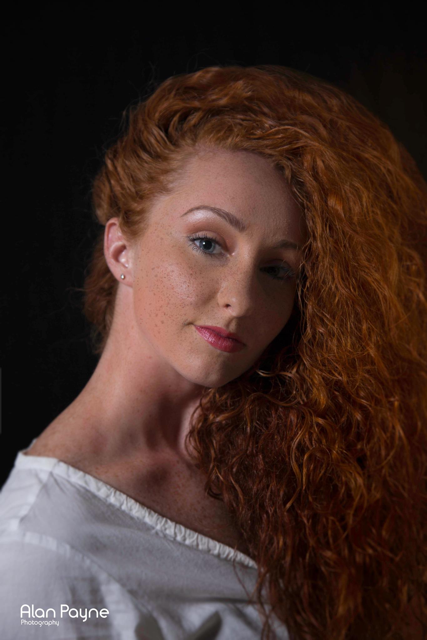 Red hair and freckles by alanpayne_fizzylemonstudio