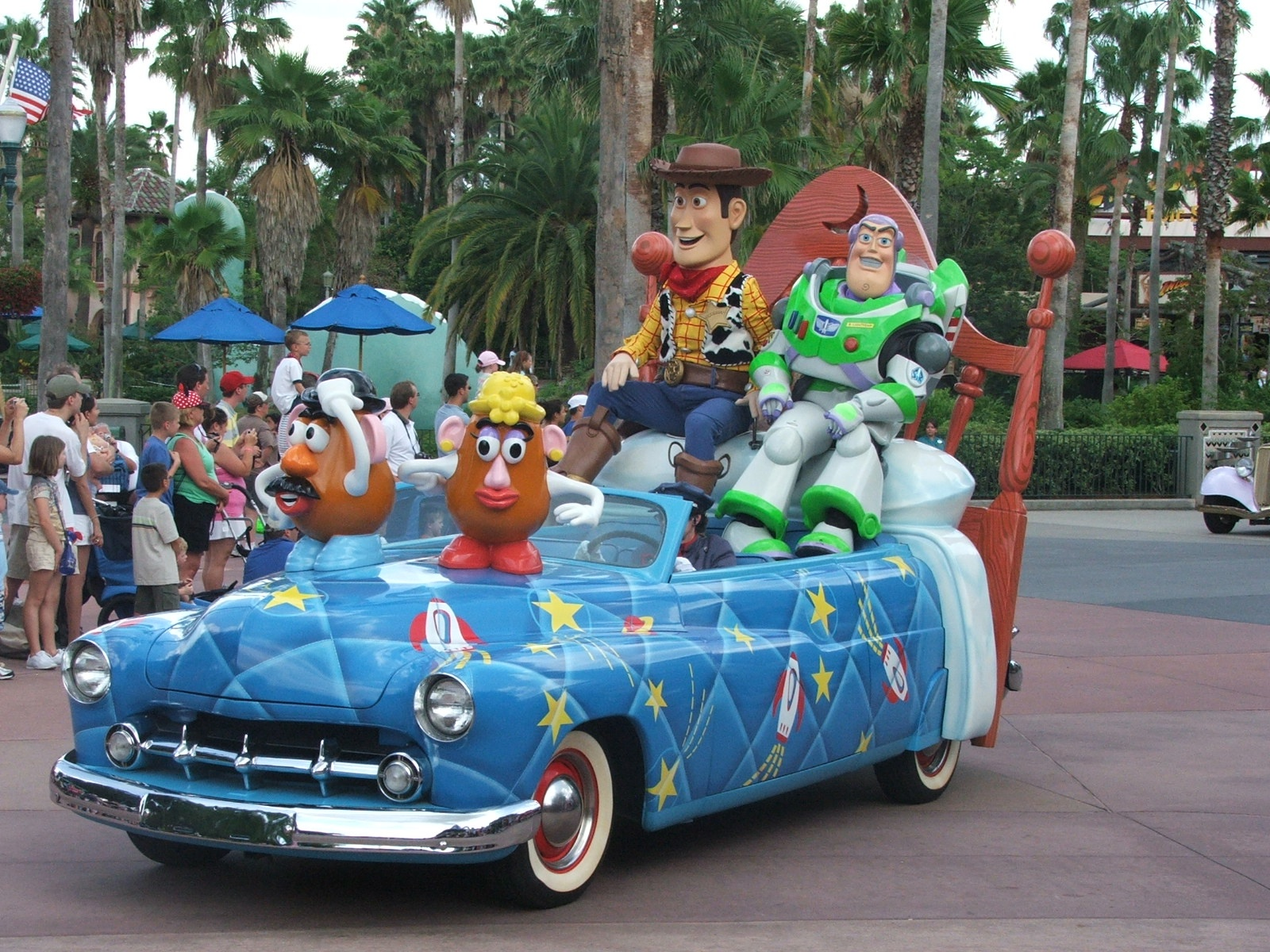 Buzz & Woody in the parade by F J Bering
