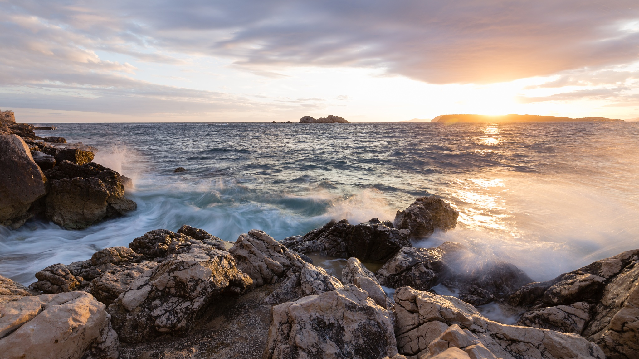 Adria Sunset by Mel Weber