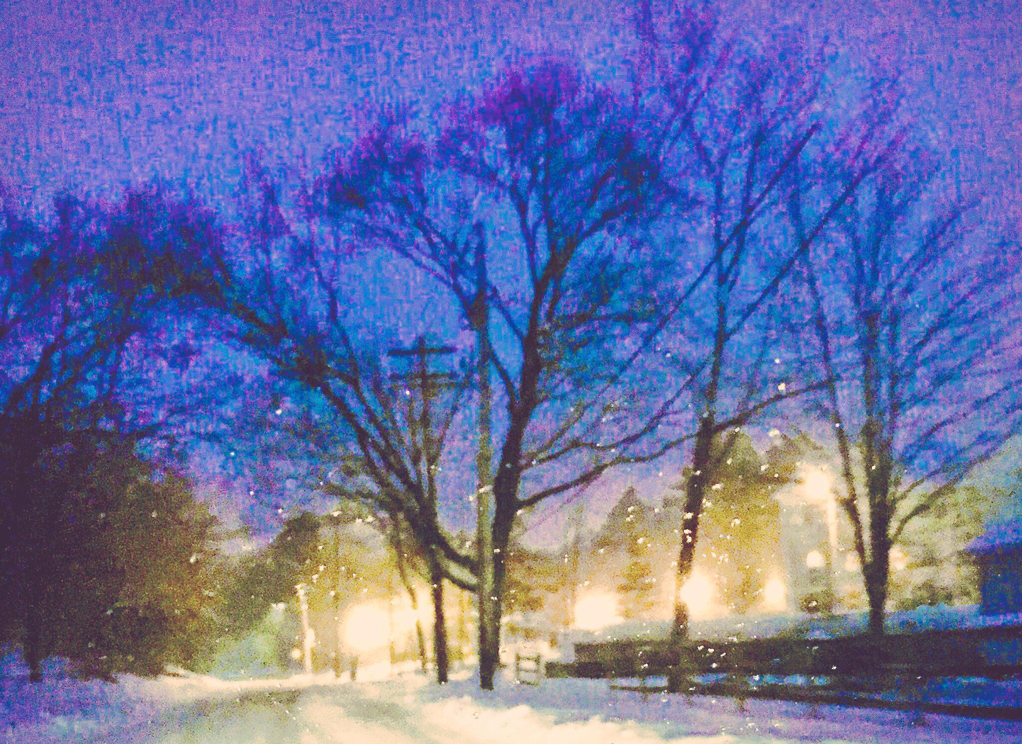 Water colors ~glistening snow by Asleepattthewheel