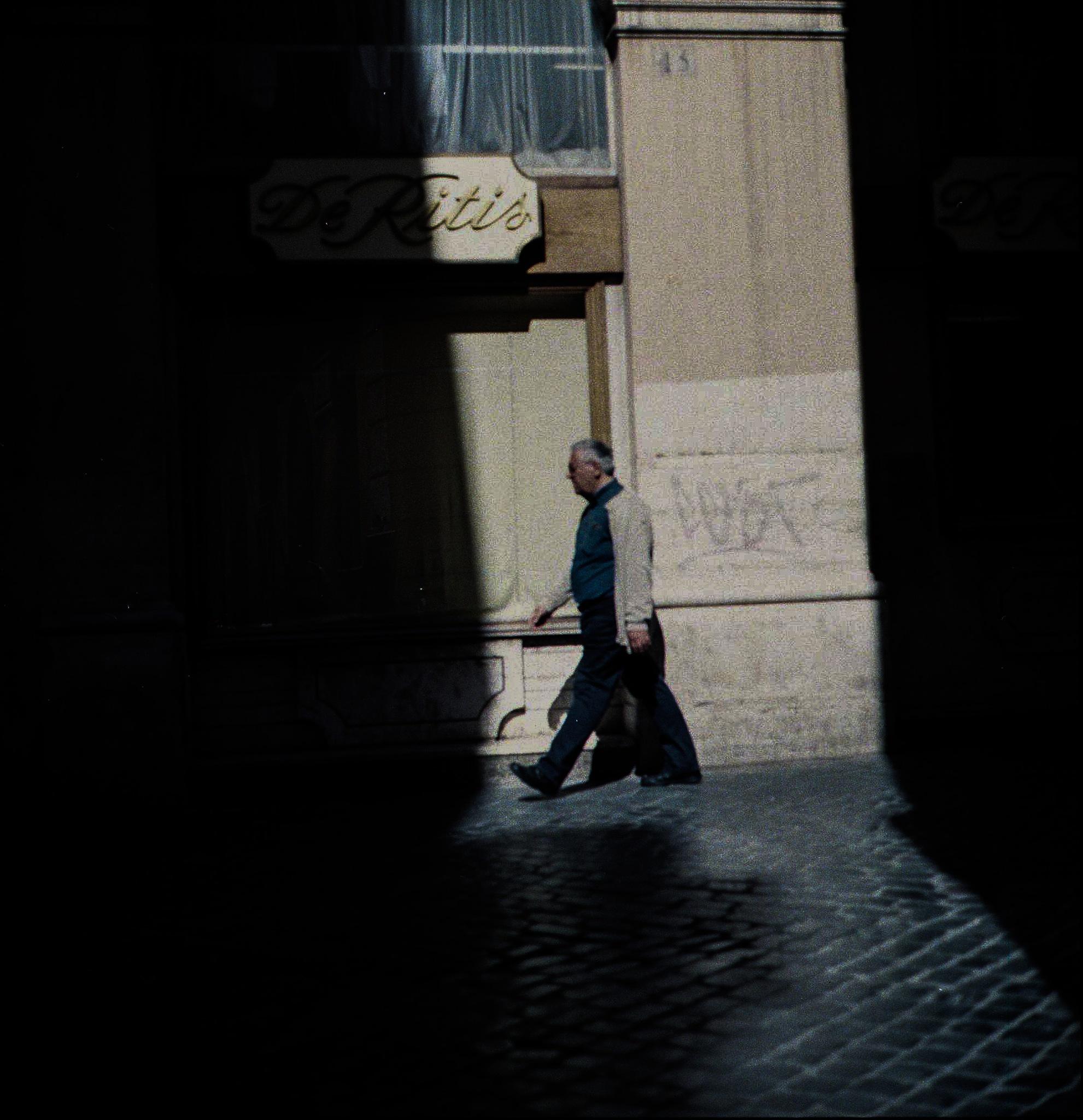 Man walking by Jaie Miller