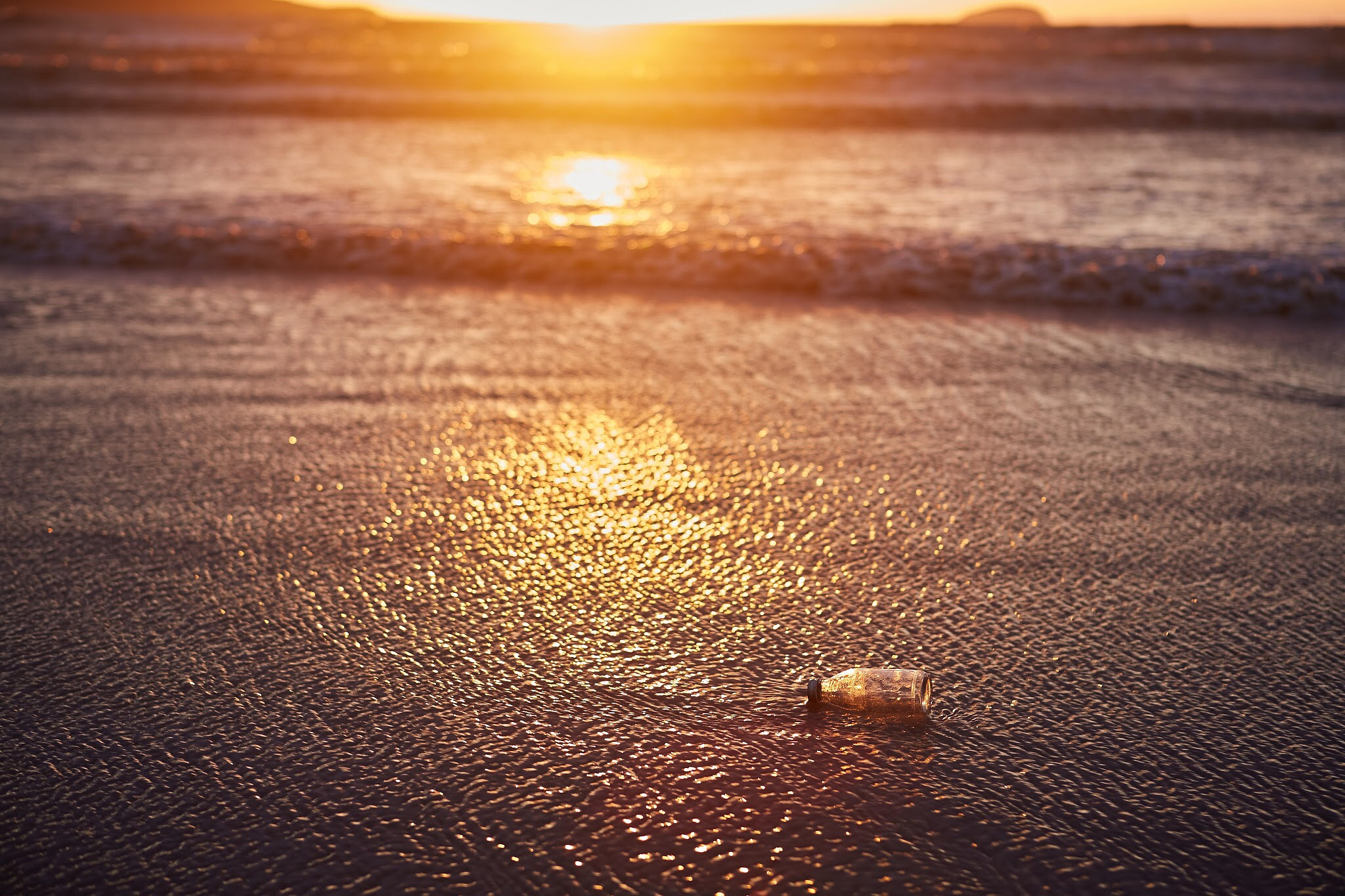Photo in Landscape #message #bottle #beach #sea #sunset #weston-super-mare #somerset