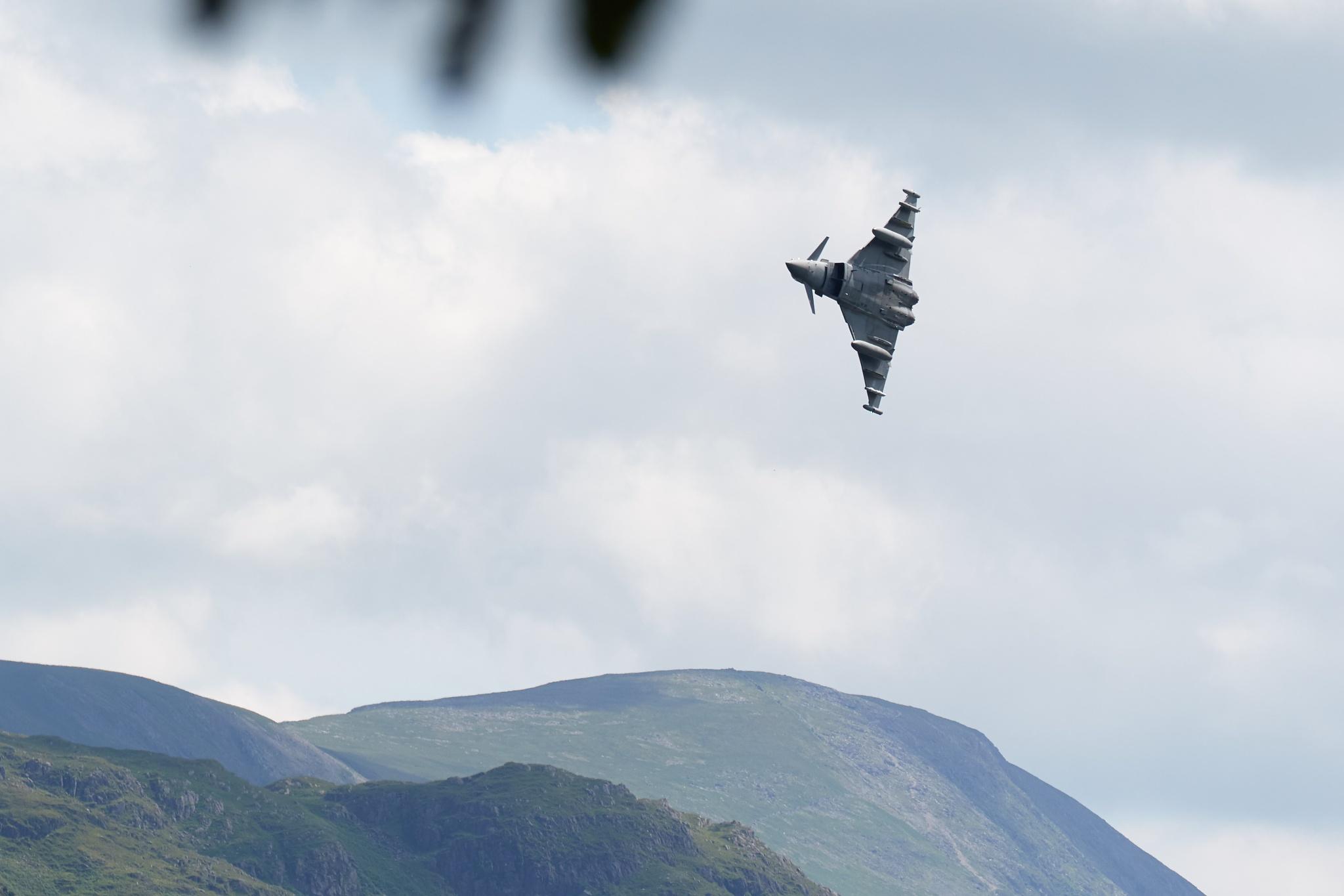 RAF Typhoon buzzes Ullswater Lake by FotoByA
