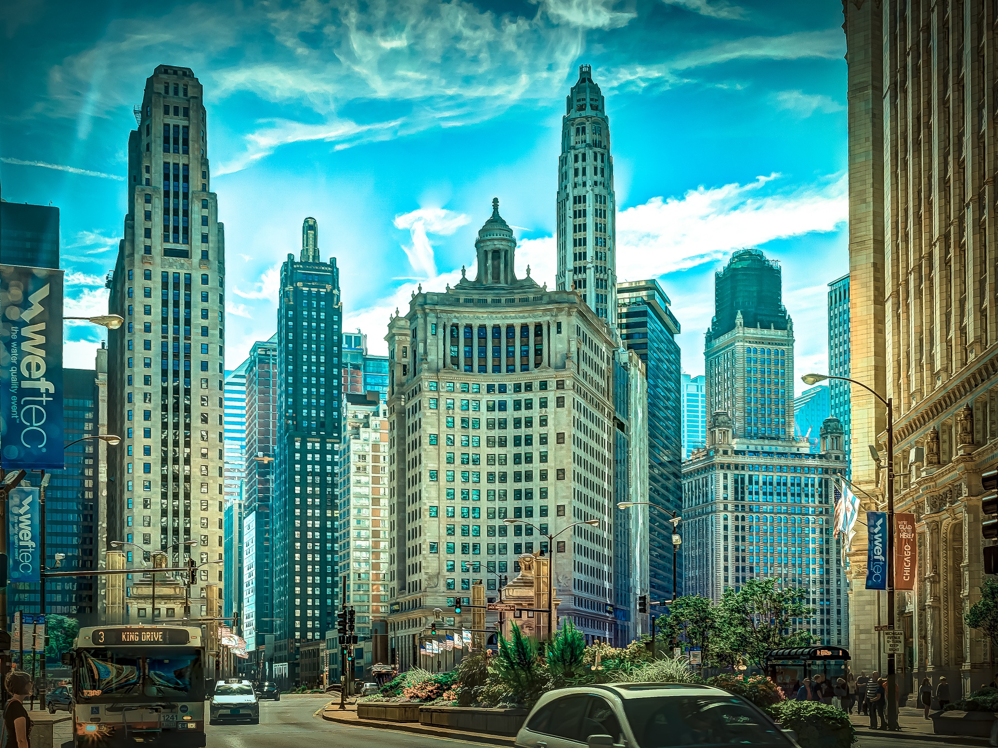 Chicago downtown by privatno1