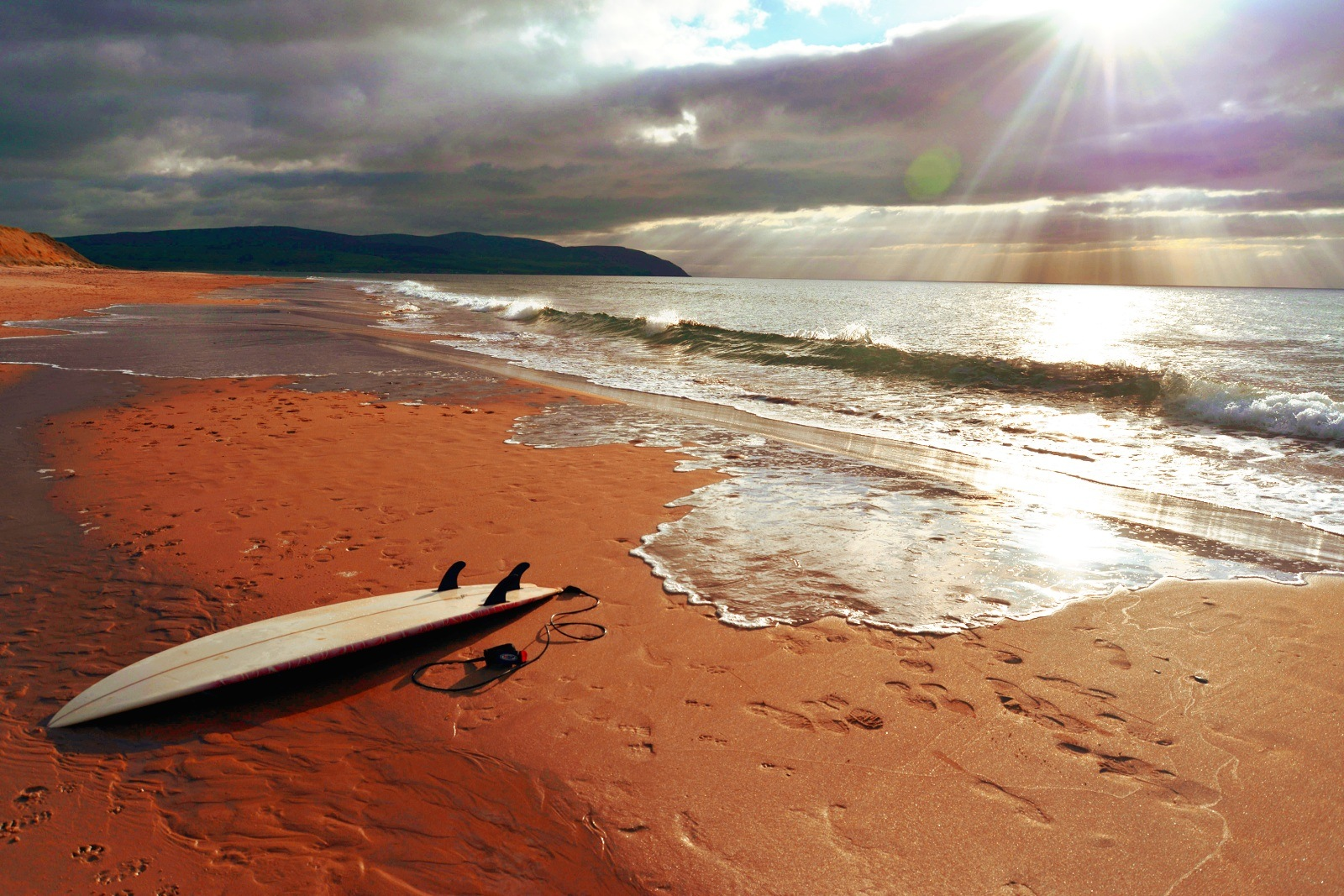 My Board on a great day with terrible waves. easy  by Jamie McFadyen